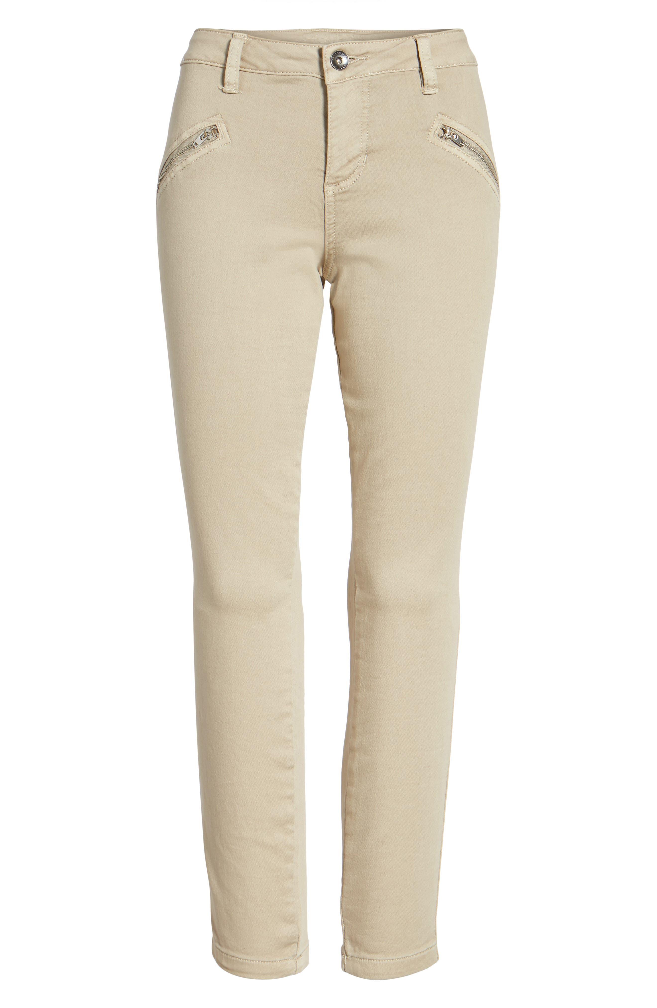 Ryan Knit Skinny Jeans,                             Alternate thumbnail 6, color,                             Birchwood