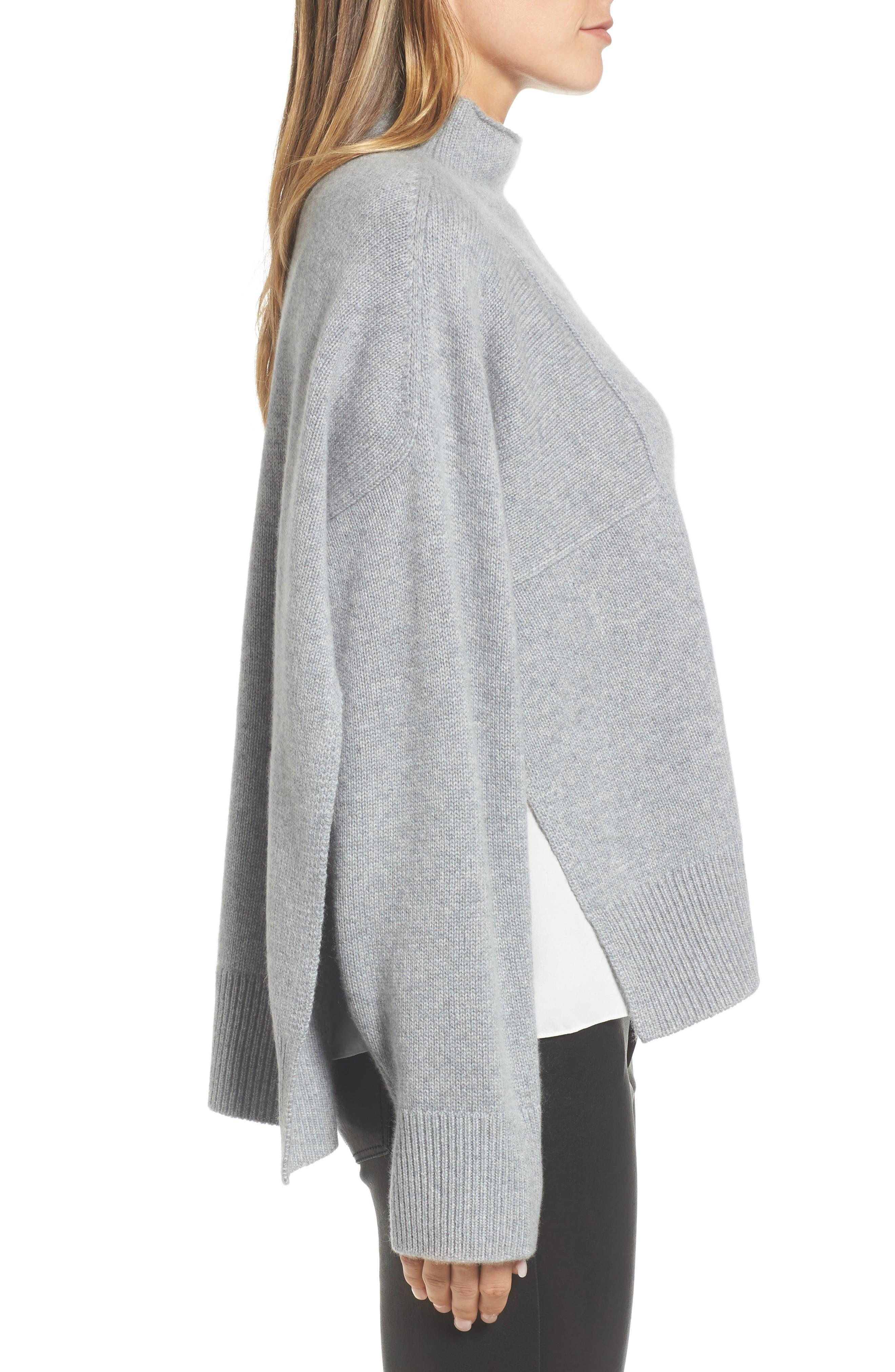 Alternate Image 3  - Nordstrom Signature Side Slit Cashmere Sweater