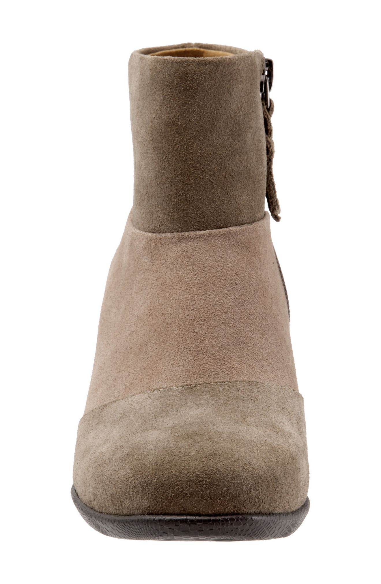 Inspire Bootie,                             Alternate thumbnail 4, color,                             Dark Taupe Suede