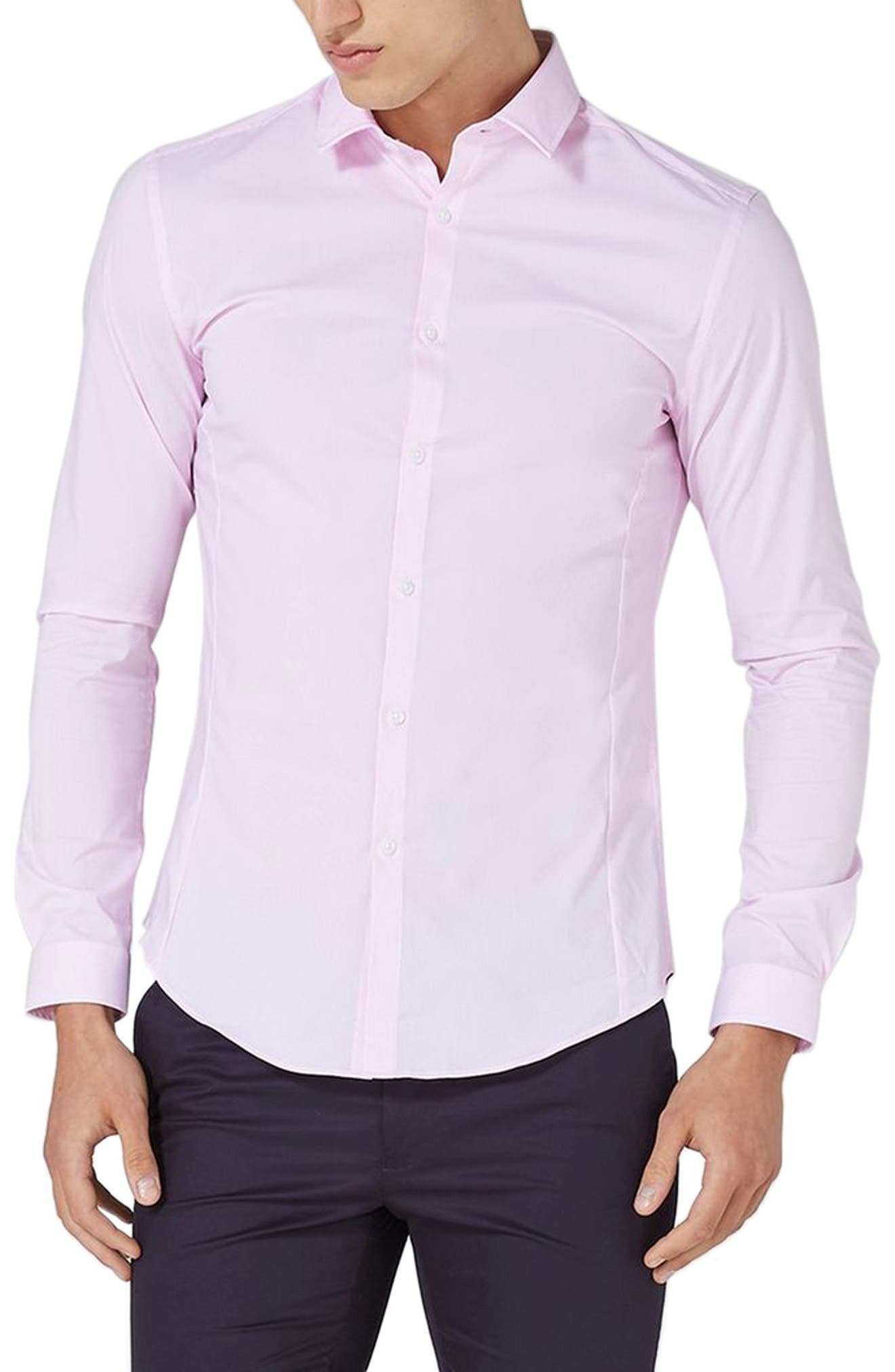 Muscle Fit Smart Shirt,                         Main,                         color, Pink Multi