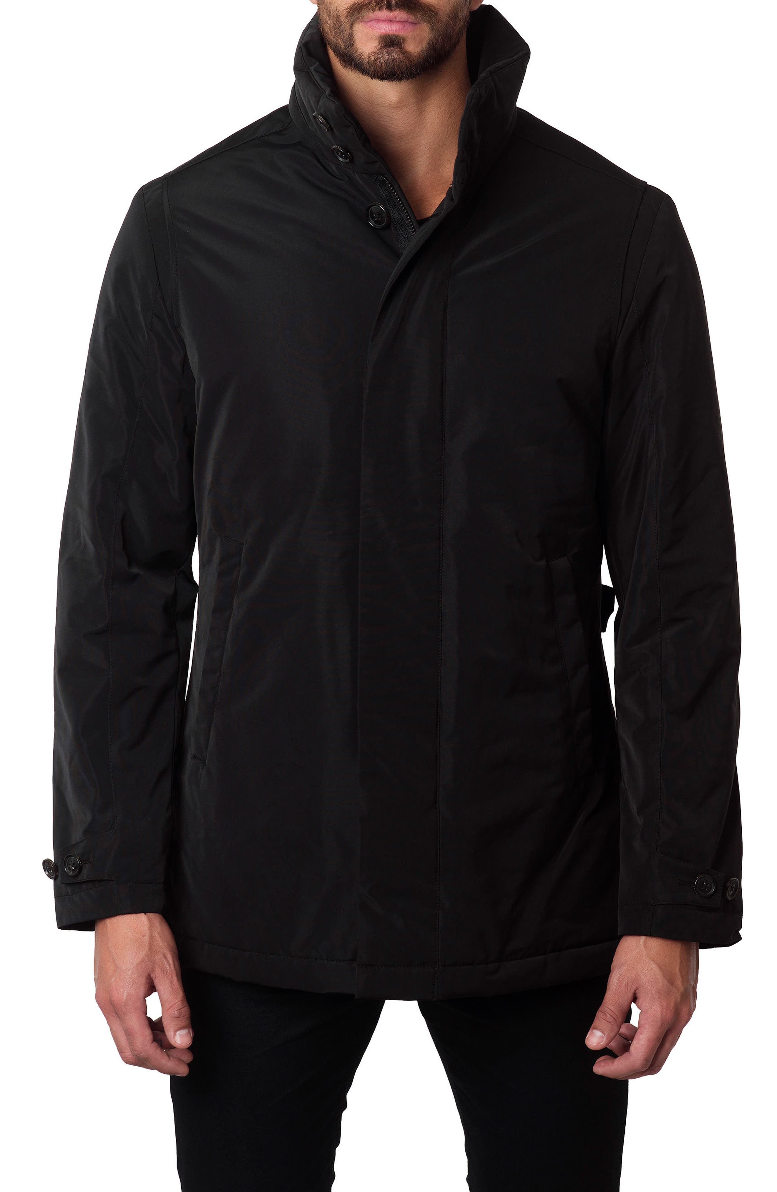 Water-Repellent Jacket,                         Main,                         color, Black