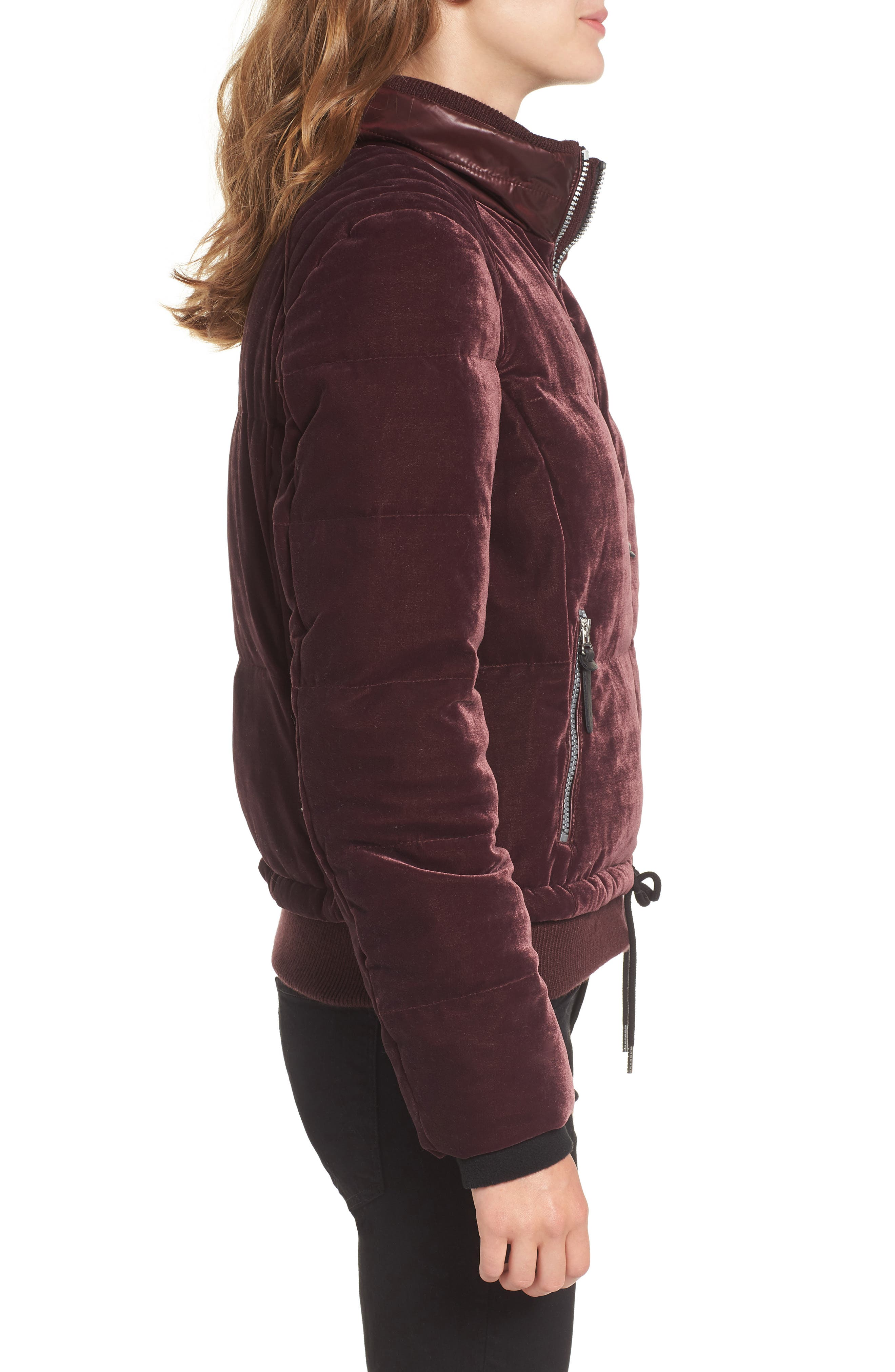 Alternate Image 3  - Andrew Marc Vita Down & Feather Fill Quilted Velvet Jacket