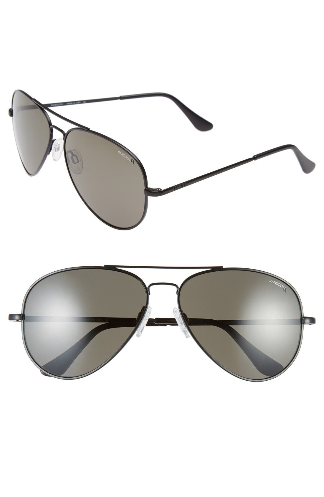 Main Image - Randolph Engineering 'Concorde' 61mm Aviator Sunglasses