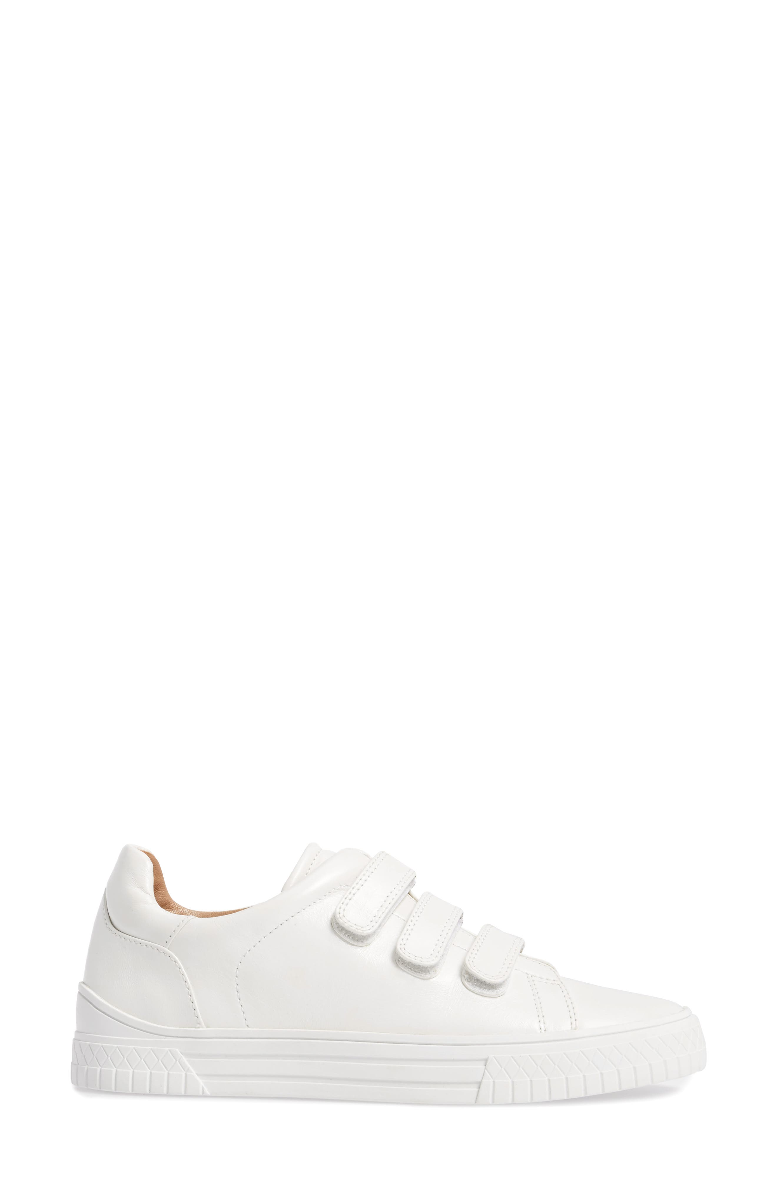 Grace Sneaker,                             Alternate thumbnail 3, color,                             White Leather