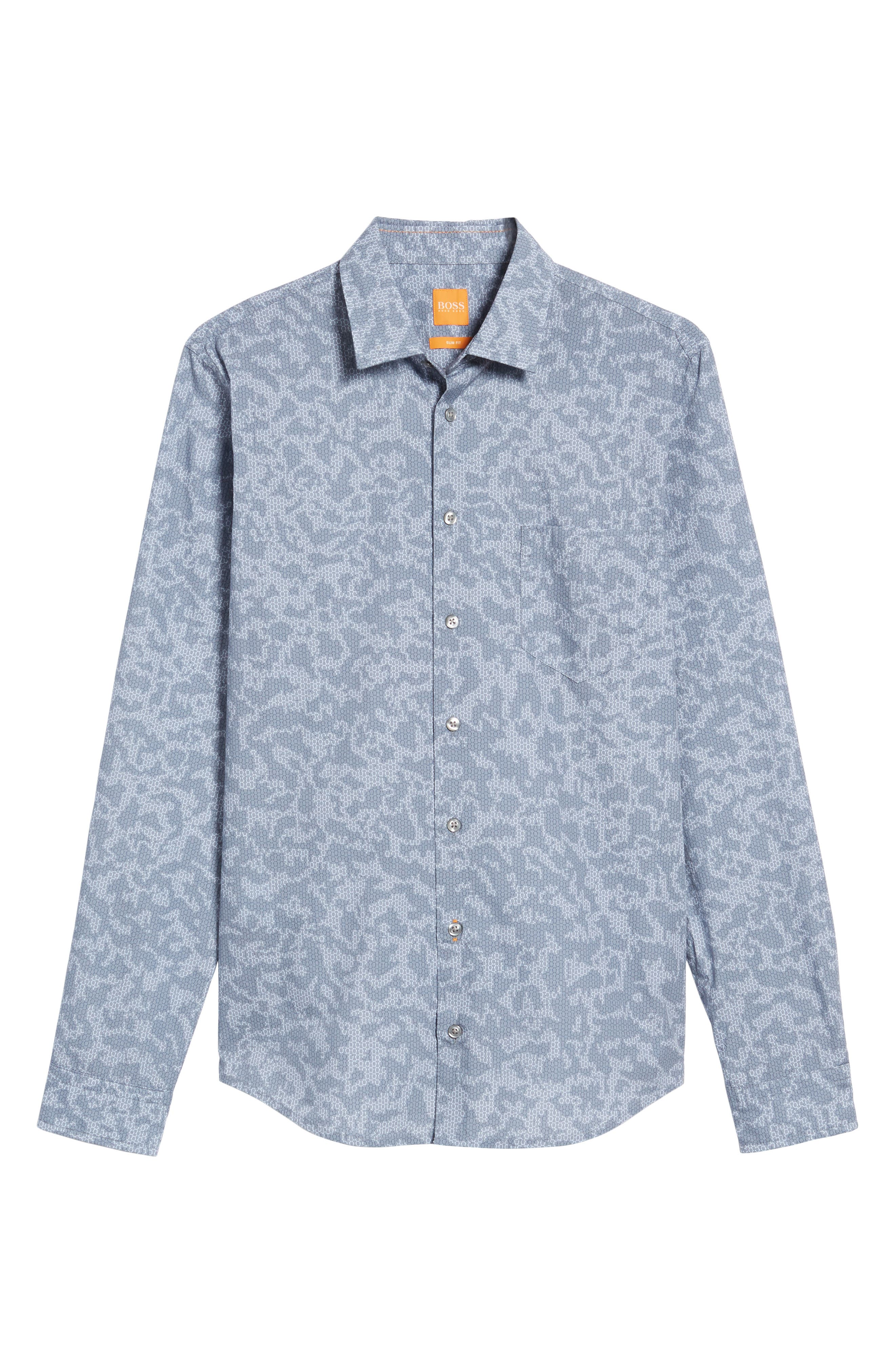 Alternate Image 6  - BOSS Orange Print Woven Shirt