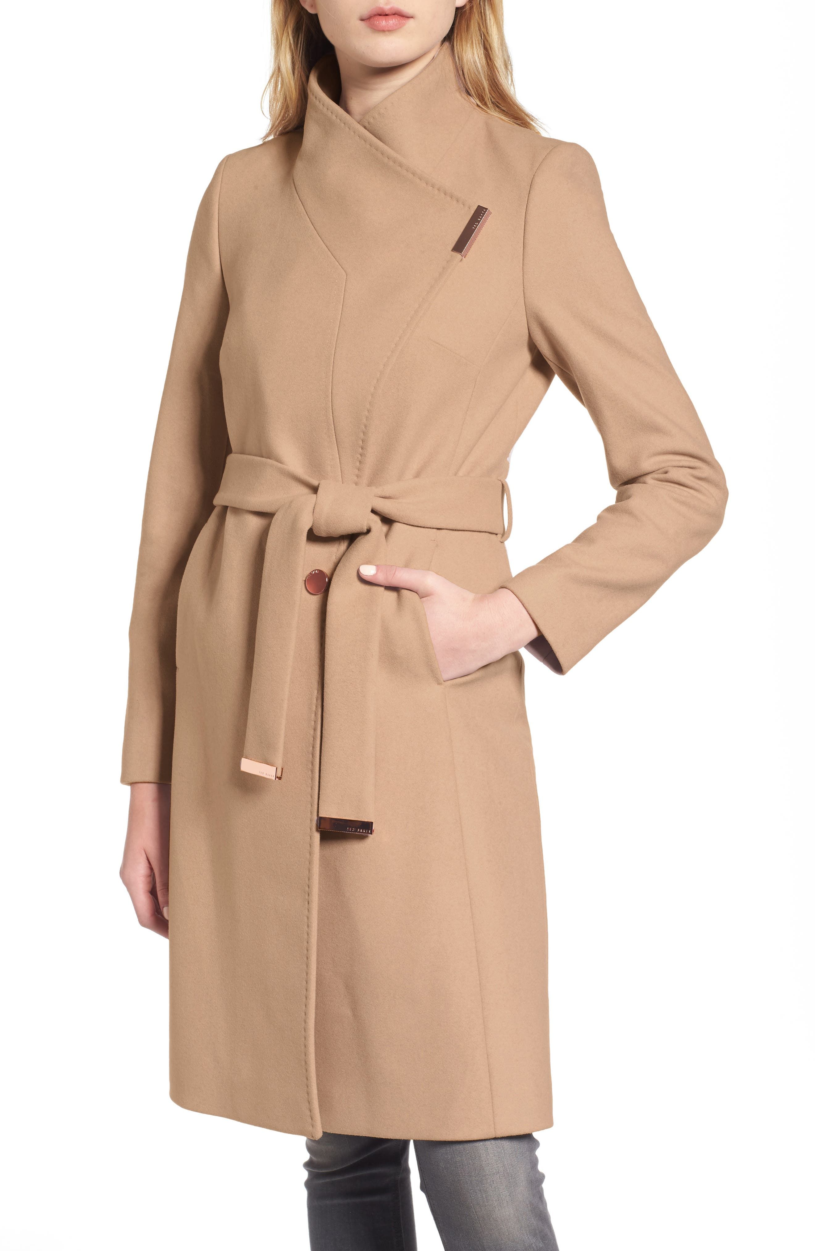 Alternate Image 6  - Ted Baker London Wool Blend Long Wrap Coat