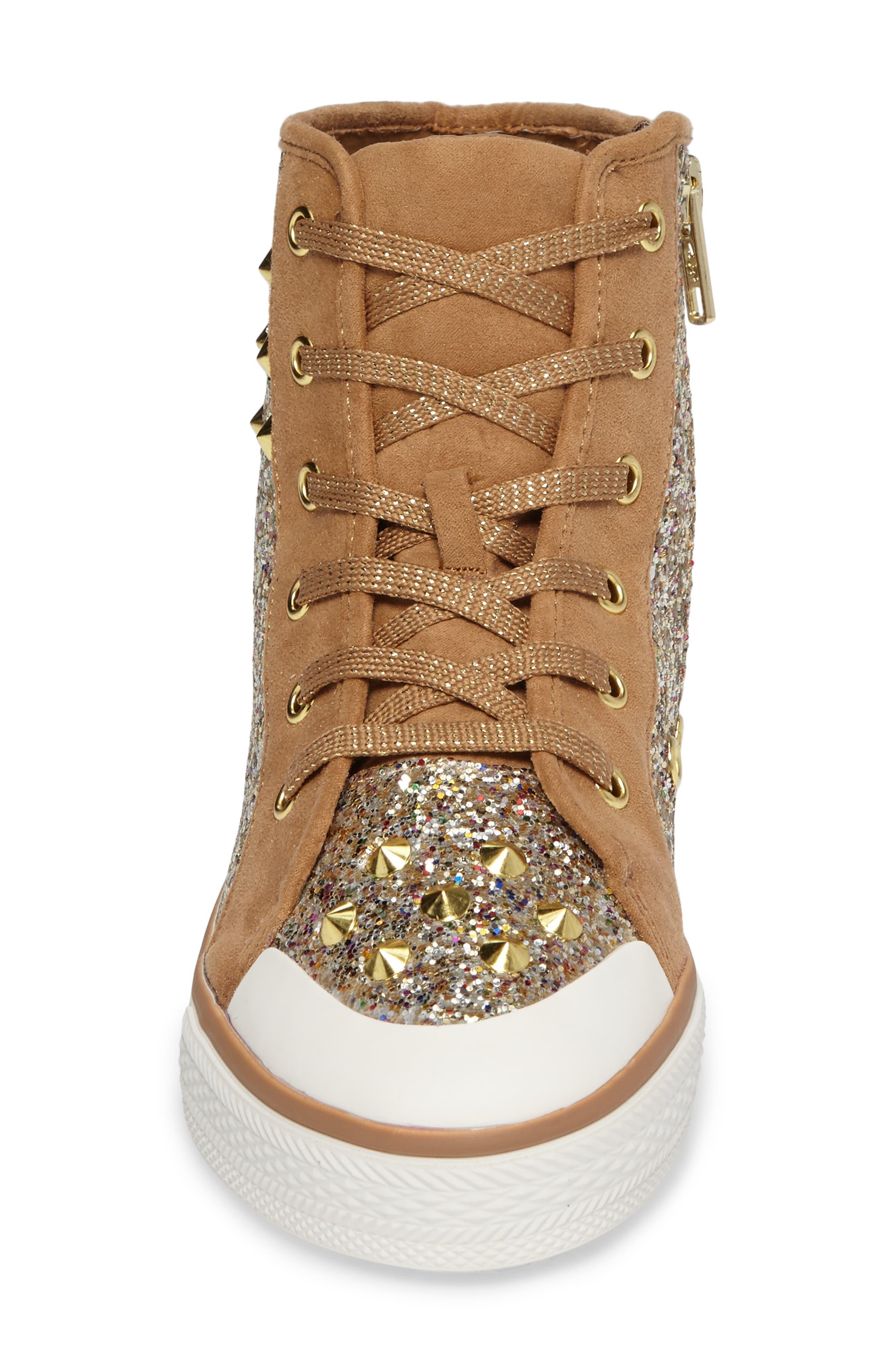 Alternate Image 4  - Ash Lita Roe Glittery High Top Sneaker (Toddler, Little Kid & Big Kid)