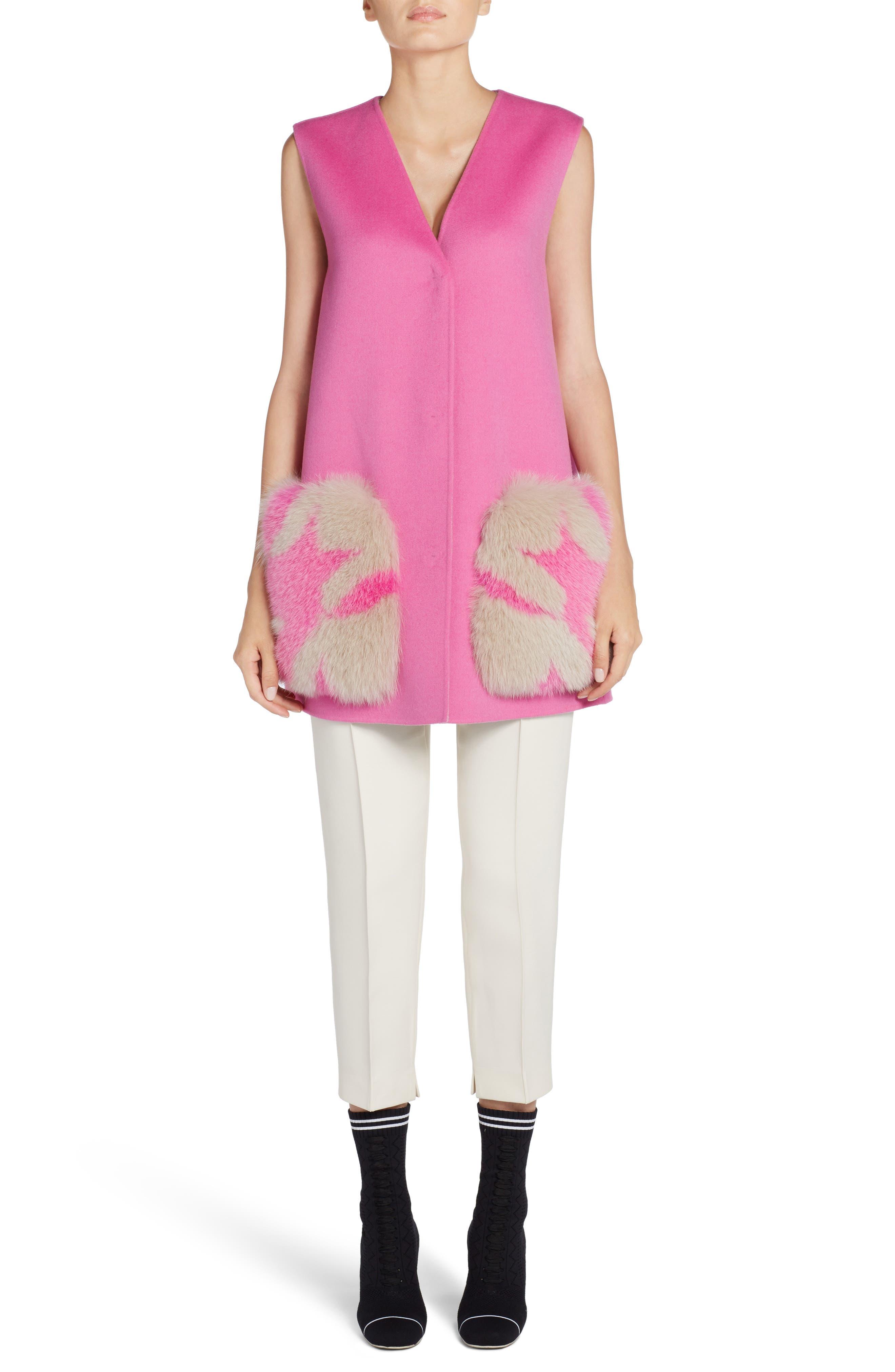 Alternate Image 9  - Fendi Wool & Silk Gazar Crop Pants