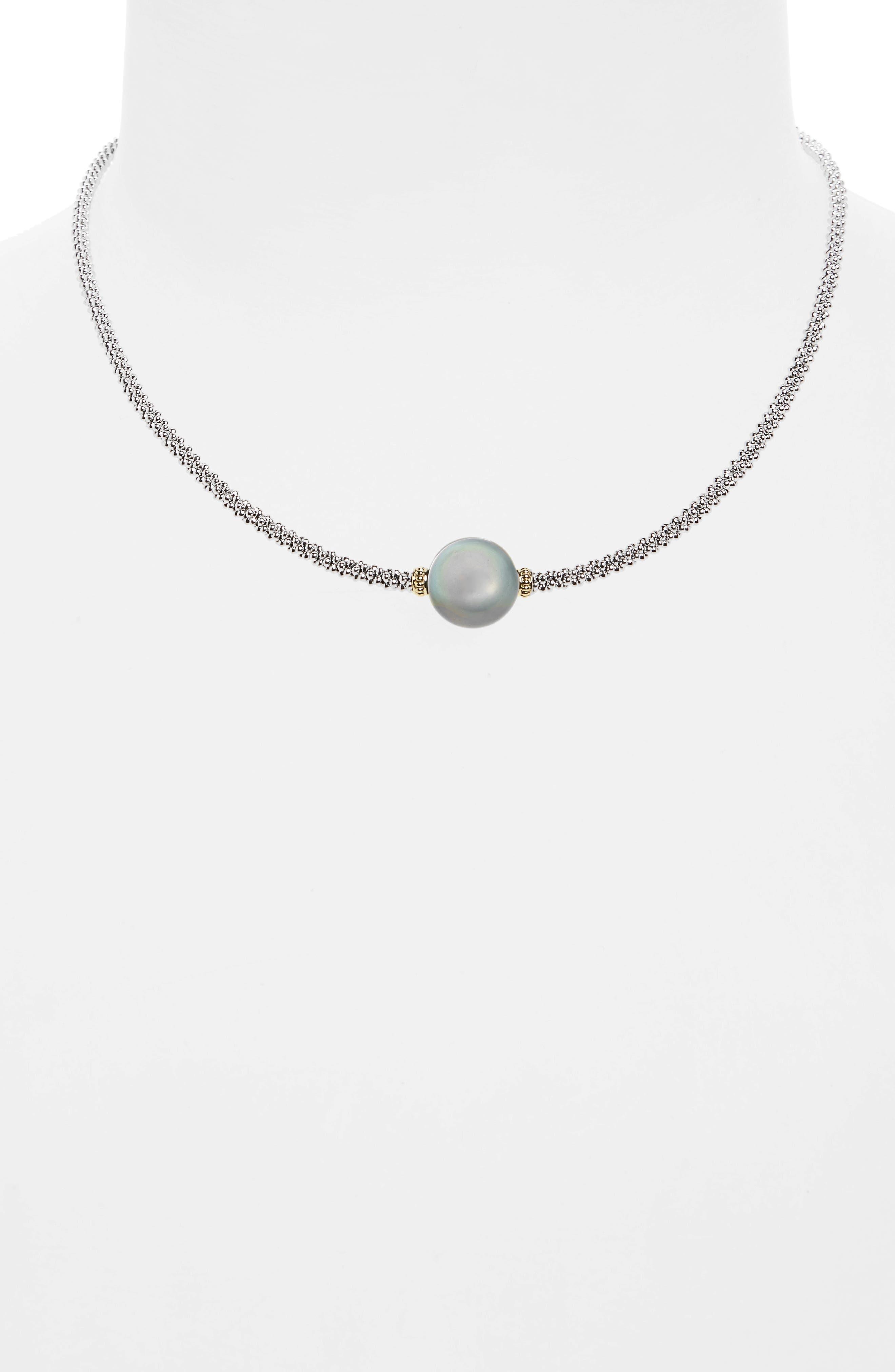 Alternate Image 2  - LAGOS Luna Pearl Collar Necklace