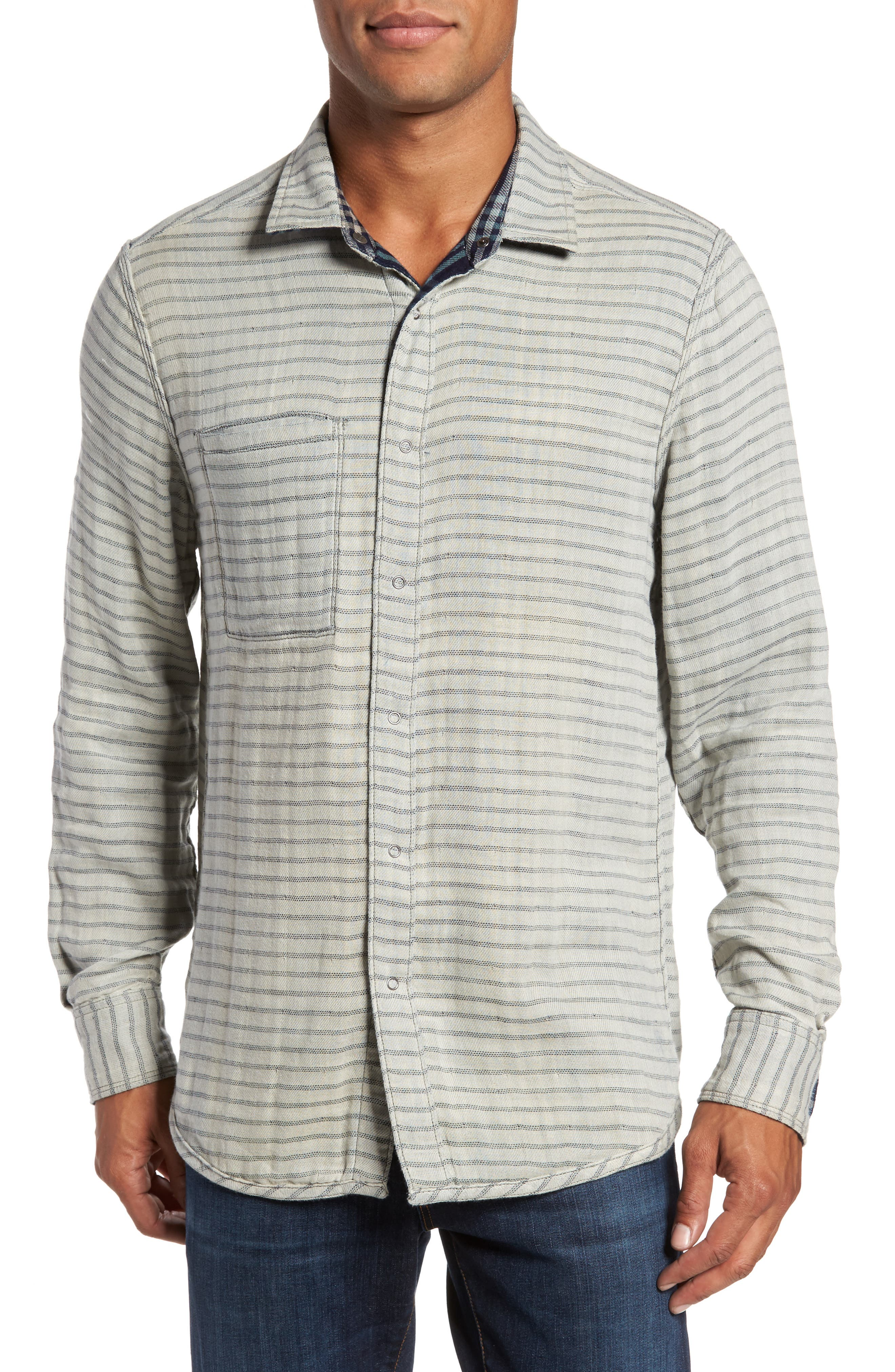 Cypress Reversible Twill Shirt,                             Alternate thumbnail 2, color,                             Inkwell
