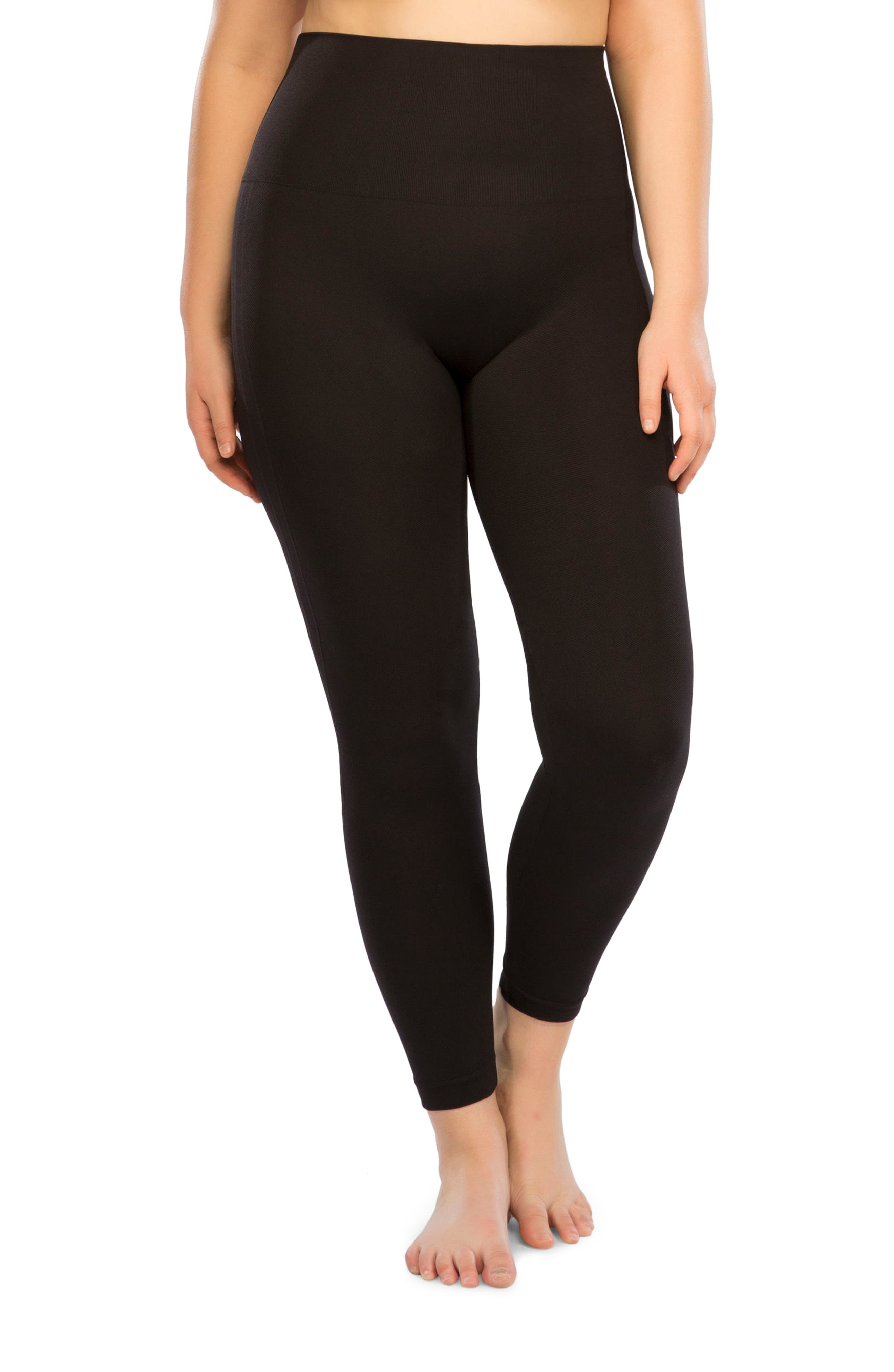 Alternate Image 1 Selected - SPANX® Look At Me Now Seamless Leggings (Plus Size)