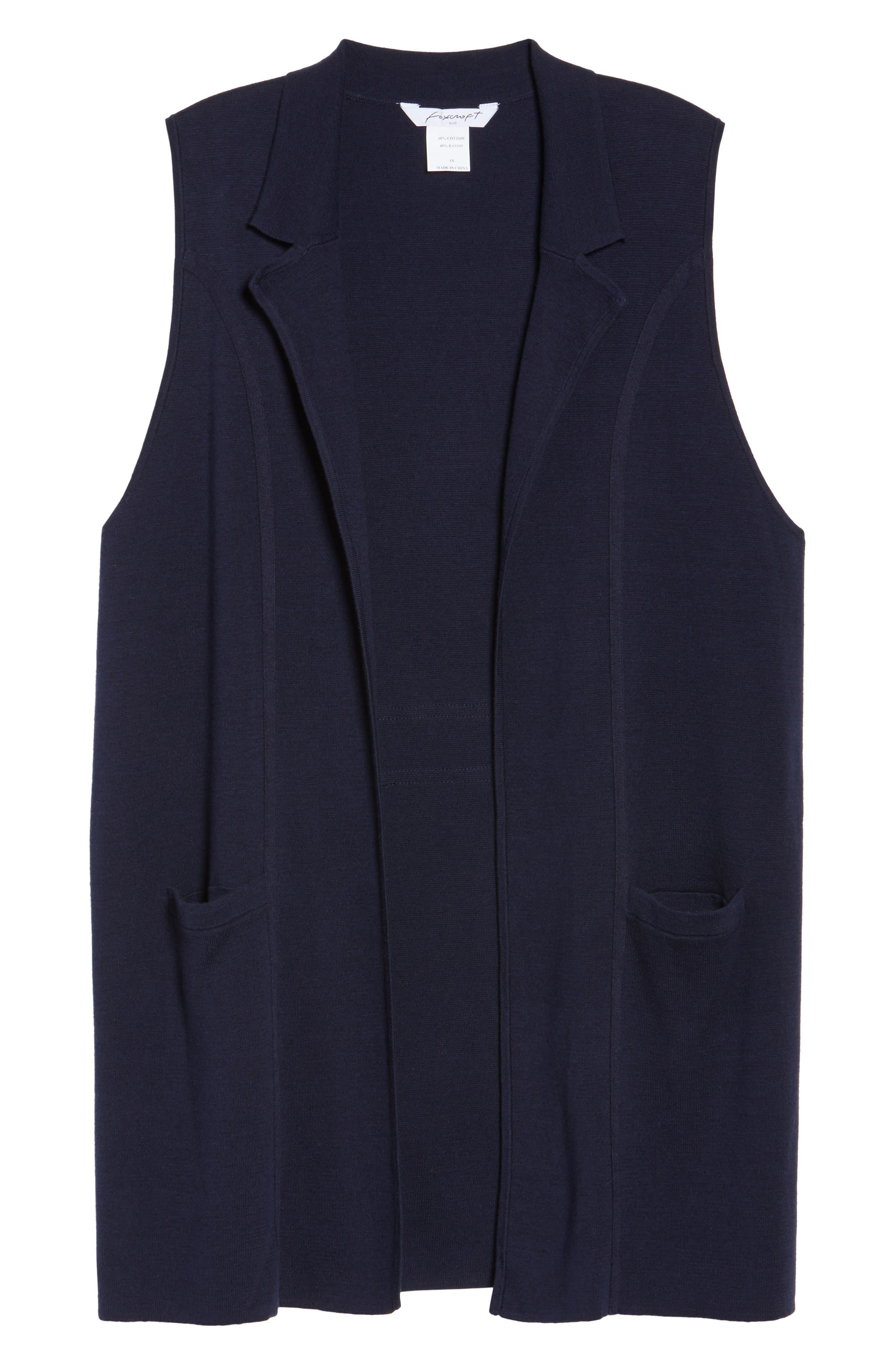 Alternate Image 6  - Foxcroft Jodi Longline Sweater Vest (Plus Size)