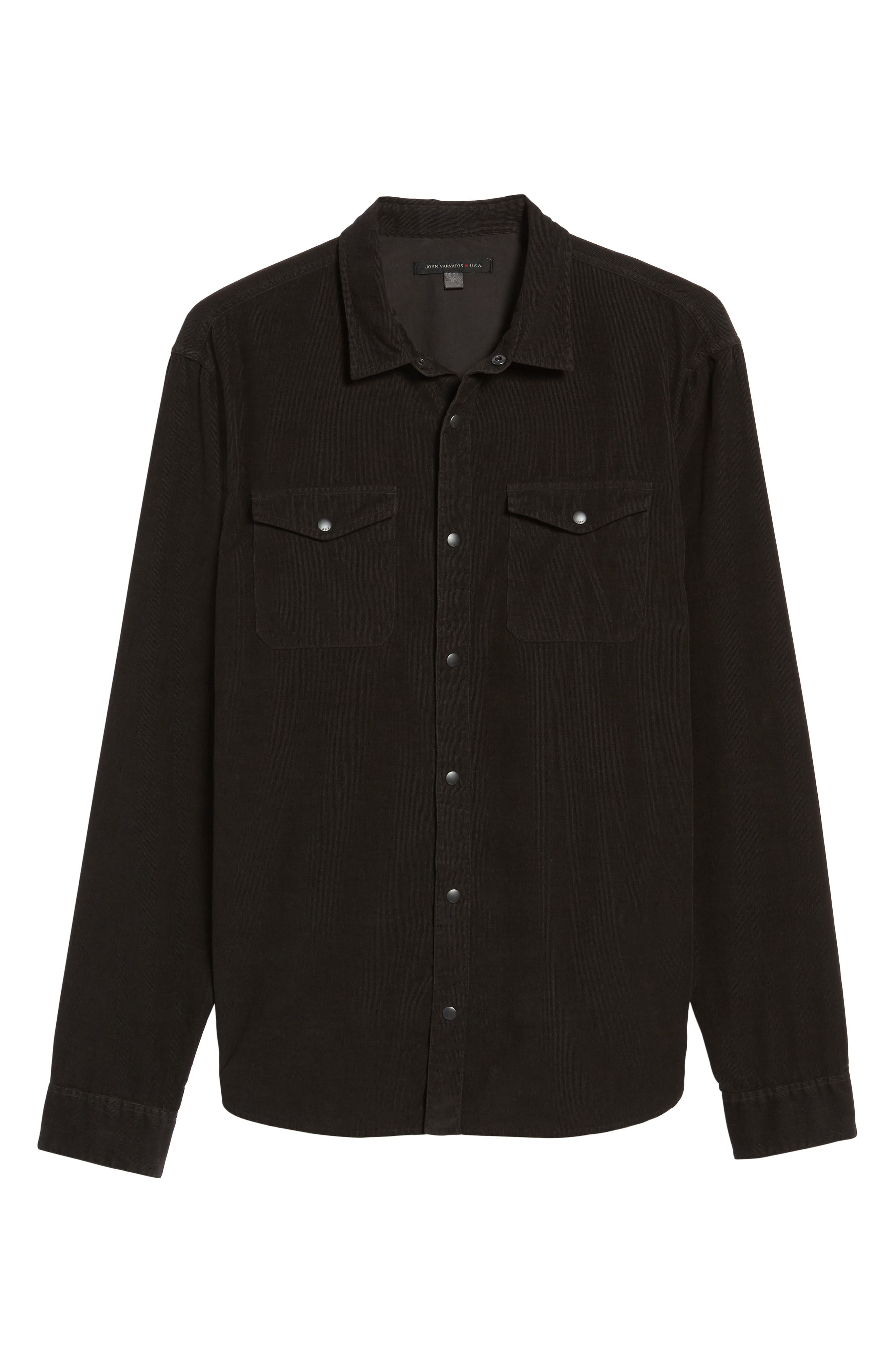 Alternate Image 6  - John Varvatos Star USA Snap Front Corduroy Sport Shirt