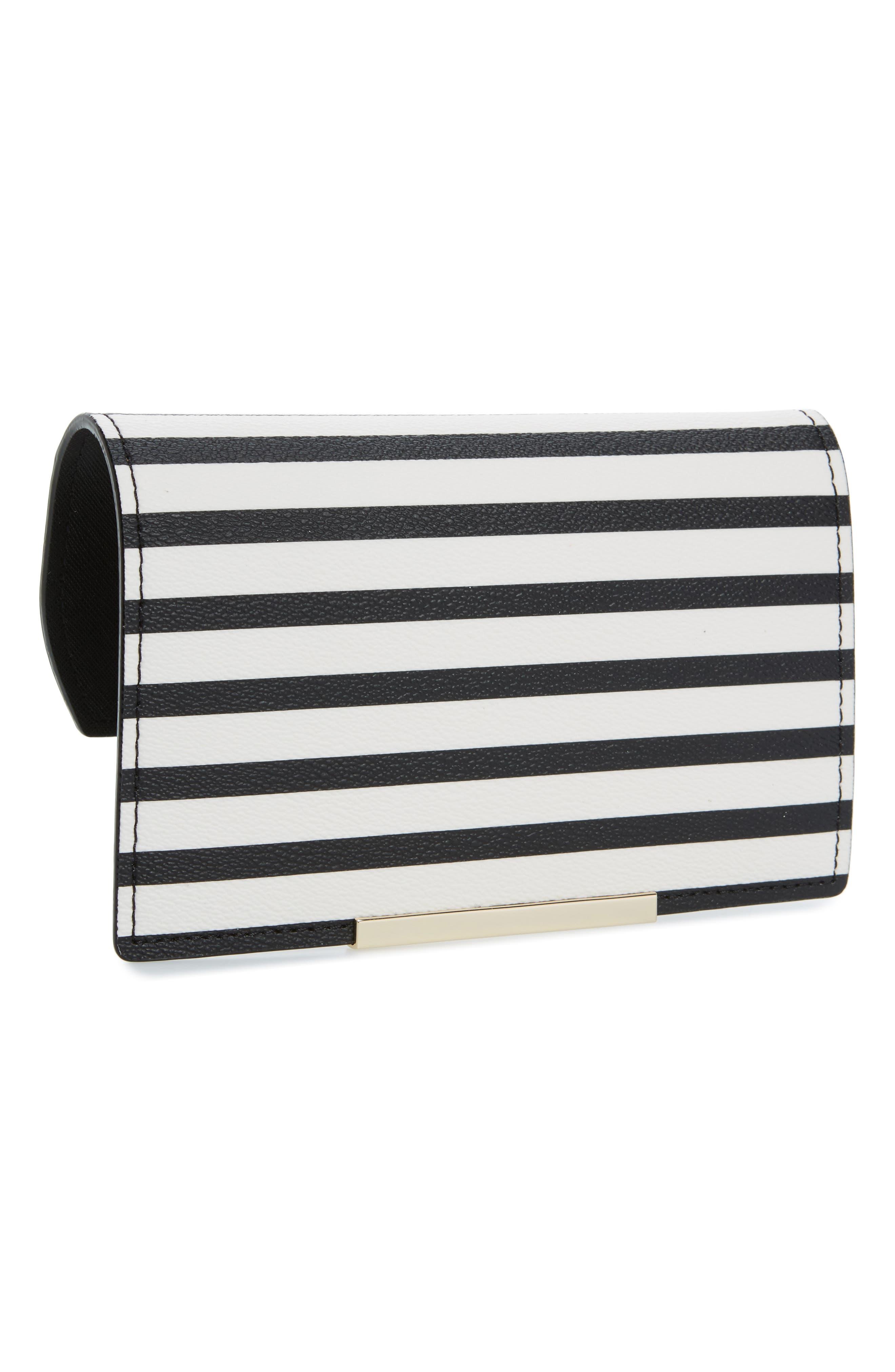 make it mine stripe snap-on accent flap,                             Main thumbnail 1, color,                             Cement/ Black