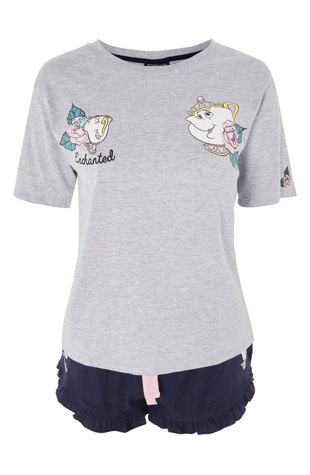 Alternate Image 3  - Topshop Beauty & the Beast Short Pajamas