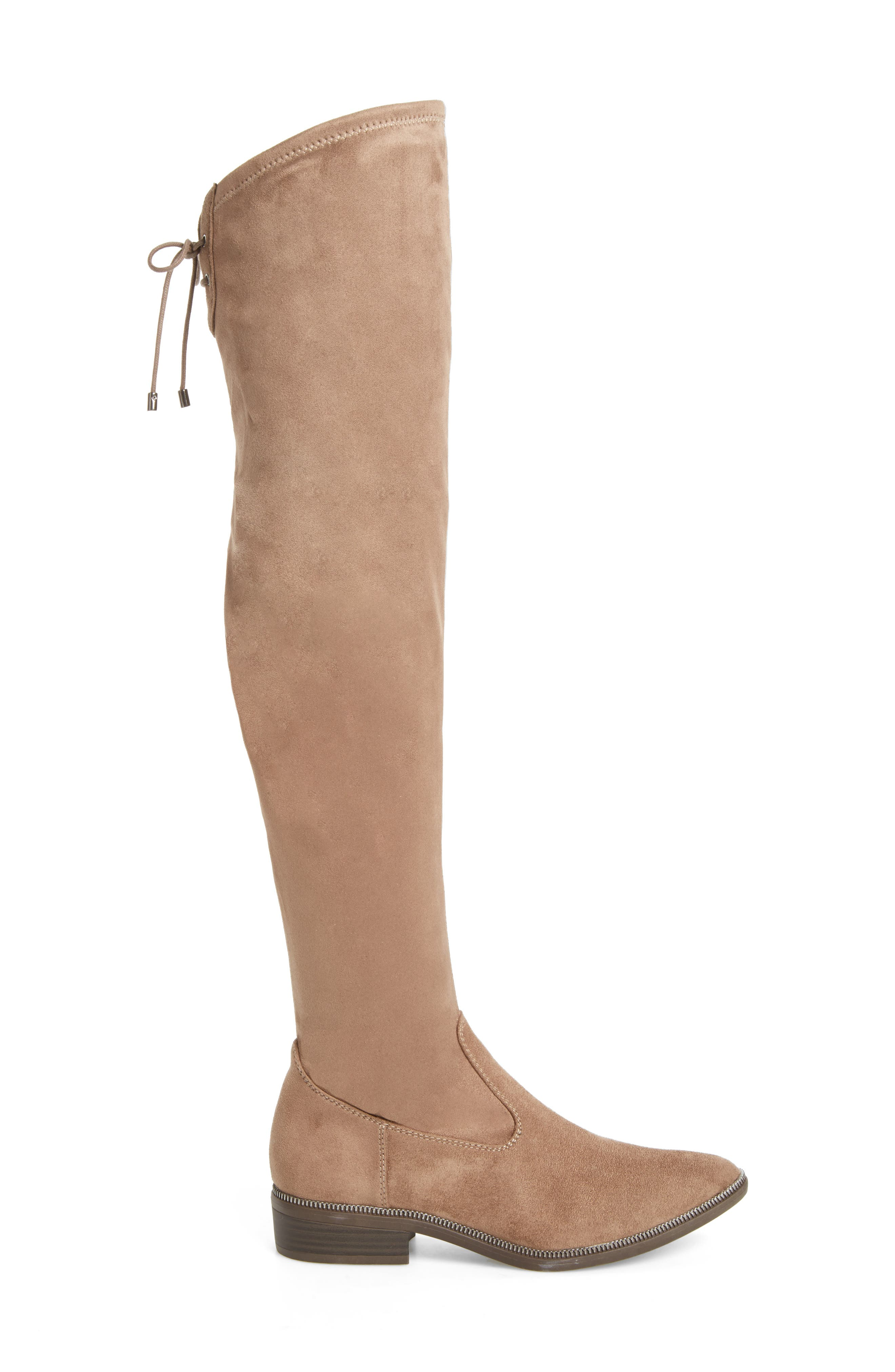 Phanie Over the Knee Stretch Boot,                             Alternate thumbnail 3, color,                             Dune Fabric