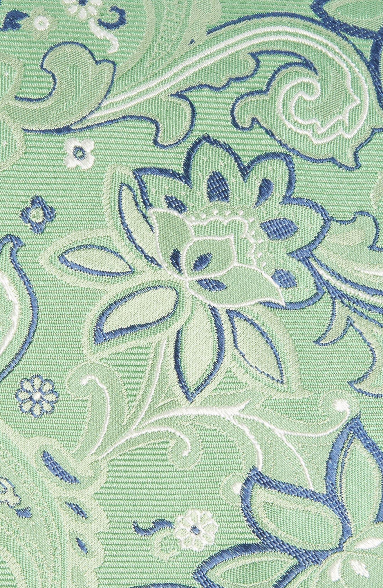 Paisley Silk Tie,                             Alternate thumbnail 2, color,                             Green