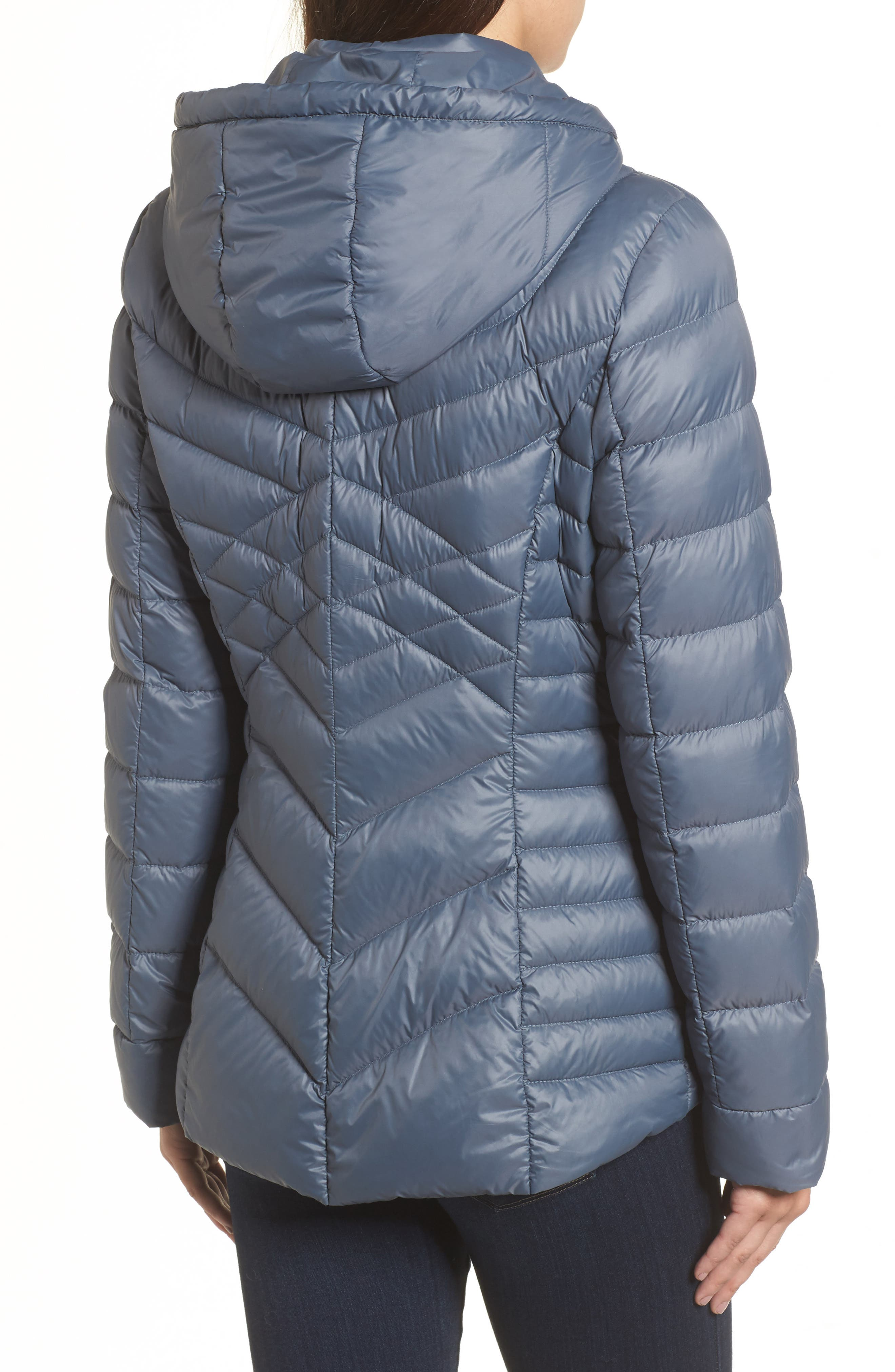Hooded Down Blend Puffer Jacket,                             Alternate thumbnail 2, color,                             Ice Blue