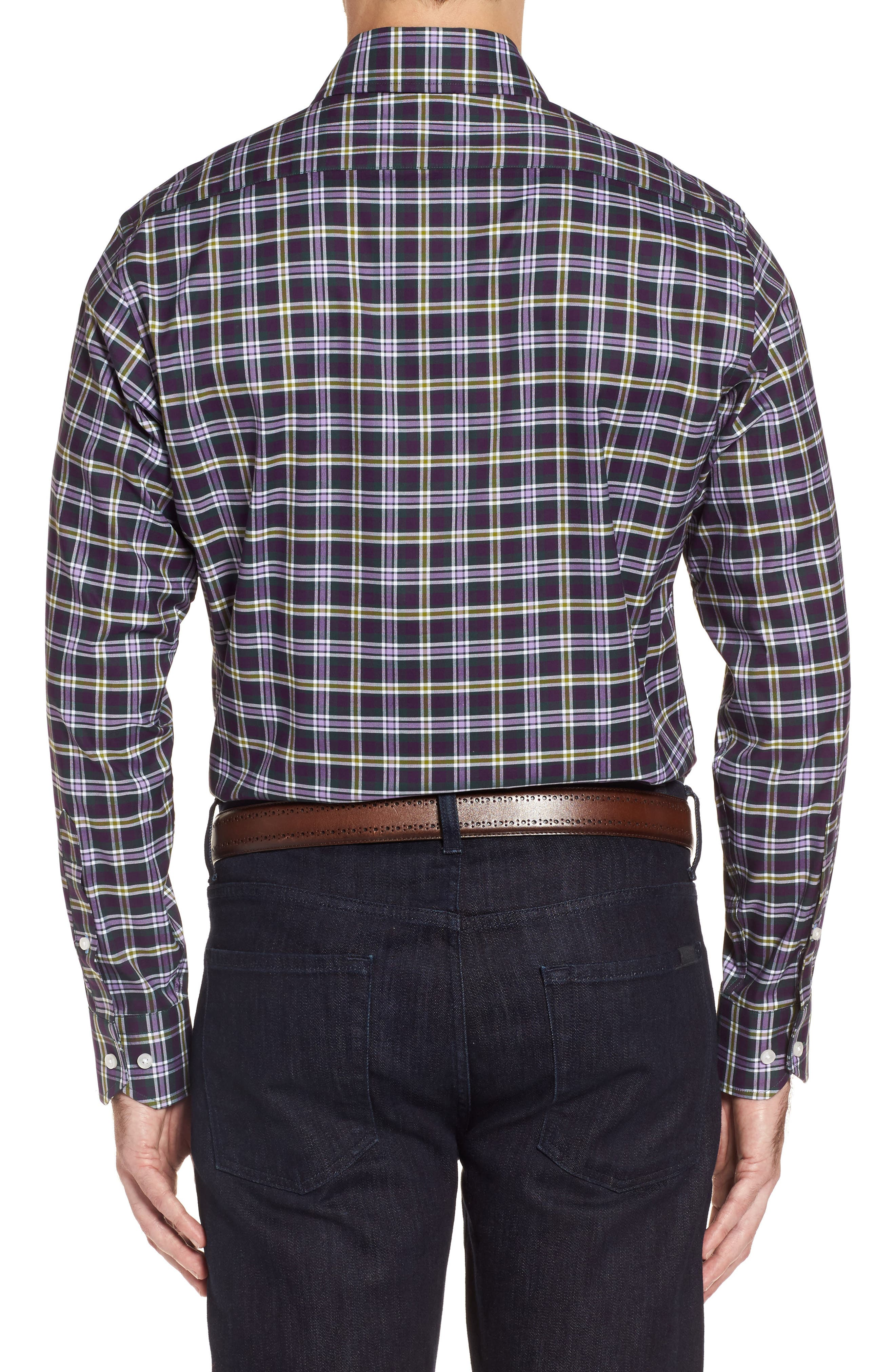 Alternate Image 2  - TailorByrd Calhoun Regular Fit Check Sport Shirt