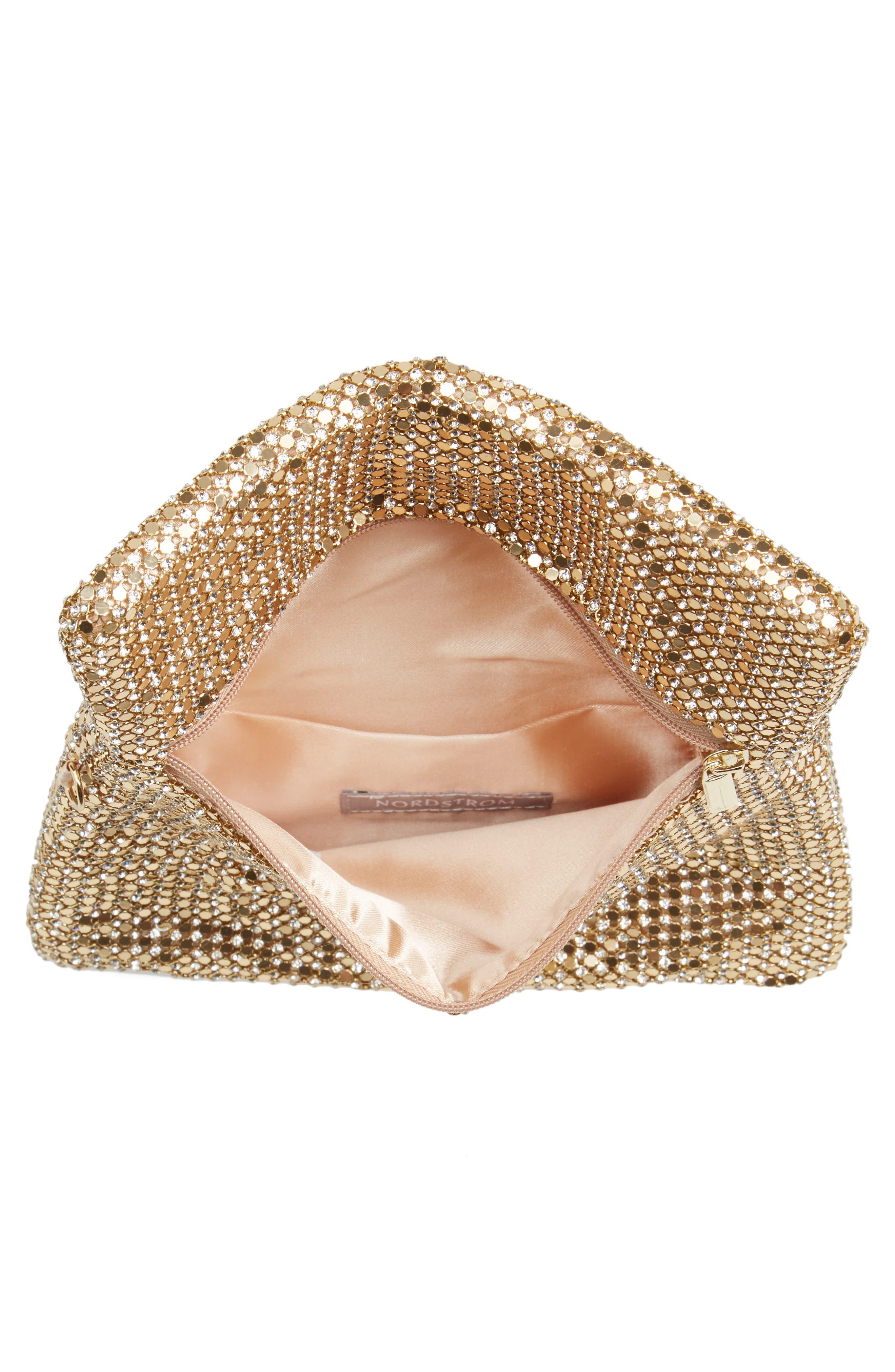 Alternate Image 4  - Nordstrom Crystal Mesh Wristlet