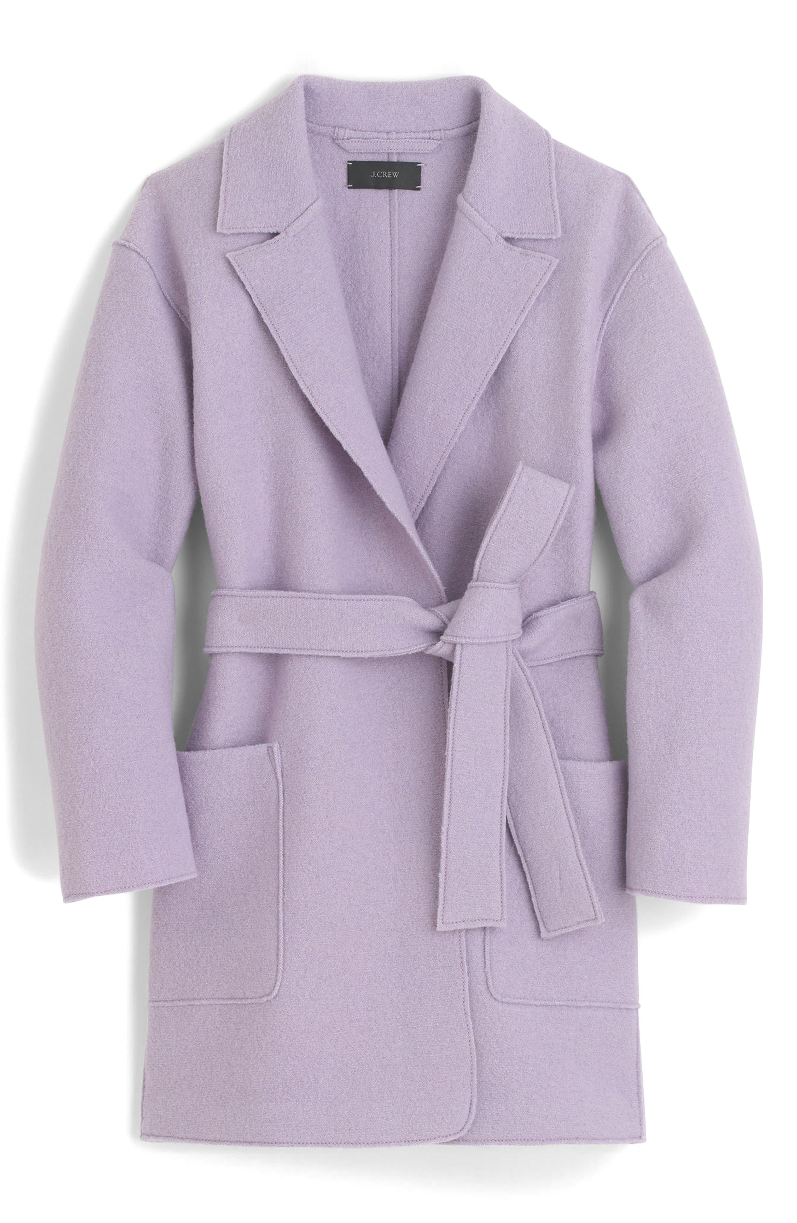 Main Image - J.Crew Sabrina Boiled Wool Wrap Coat (Regular & Petite)