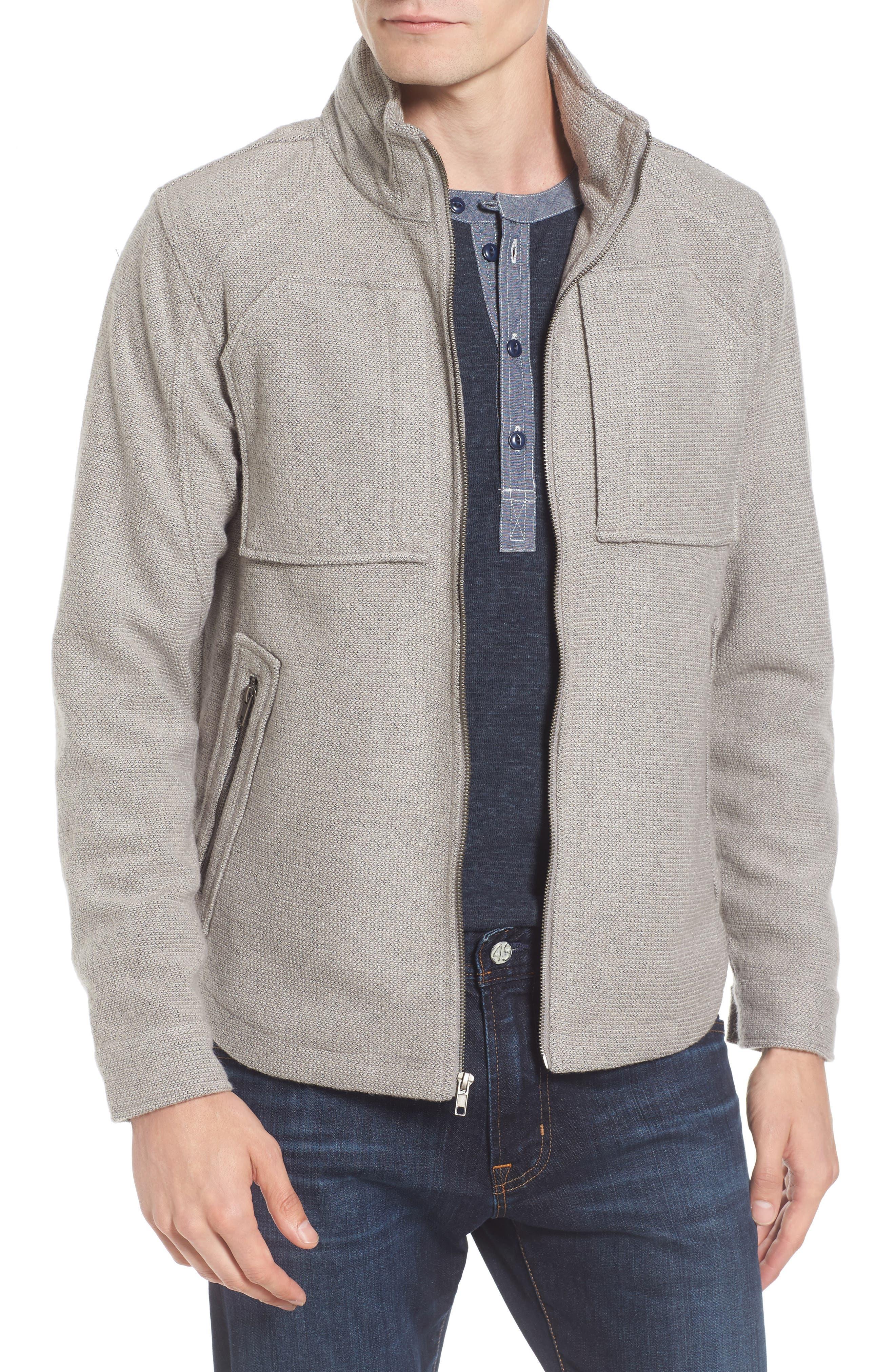 Zip Jacket,                         Main,                         color, Light Grey