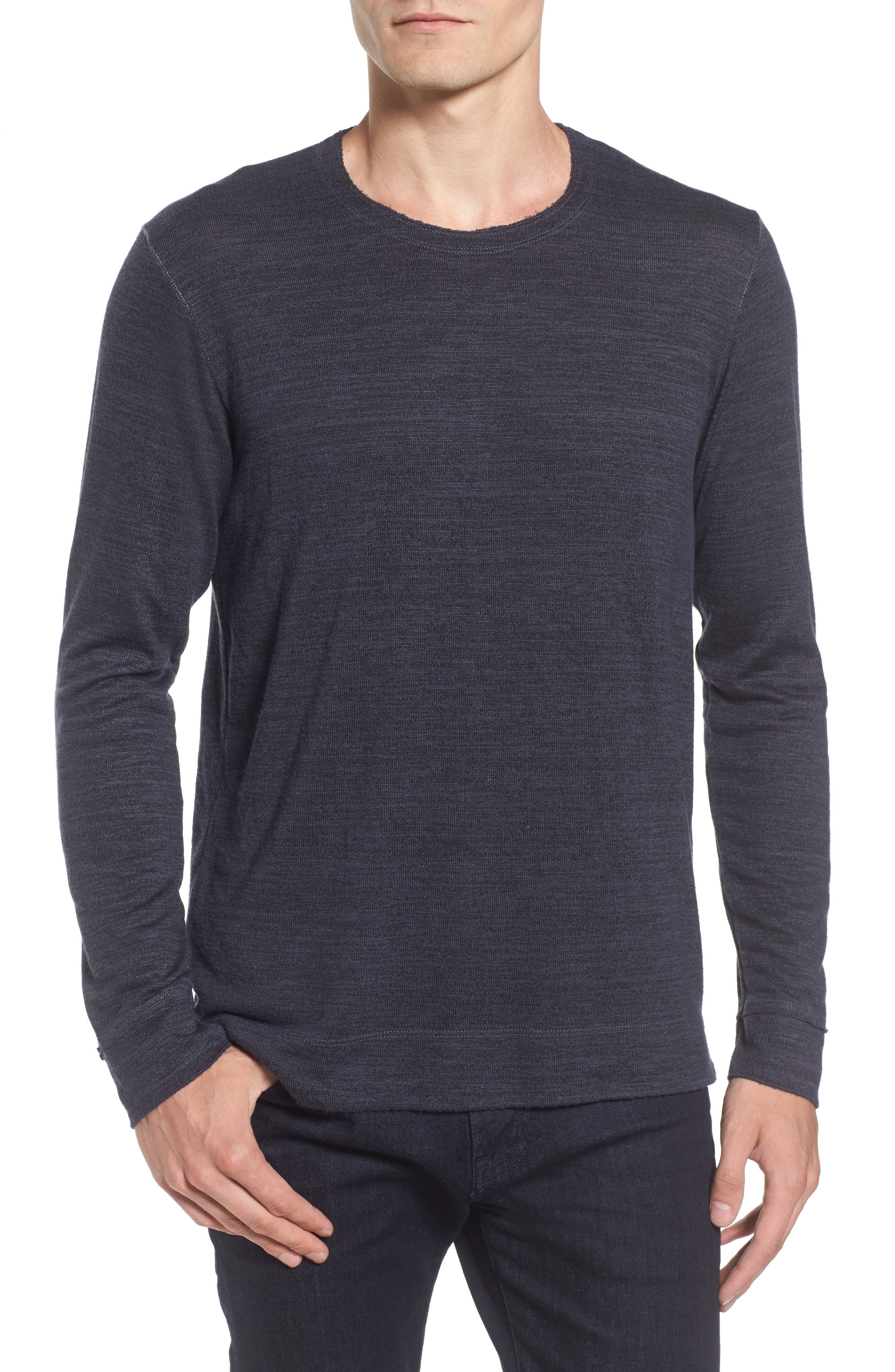 Modern Trim Marled Long Sleeve T-Shirt,                         Main,                         color, Patrol