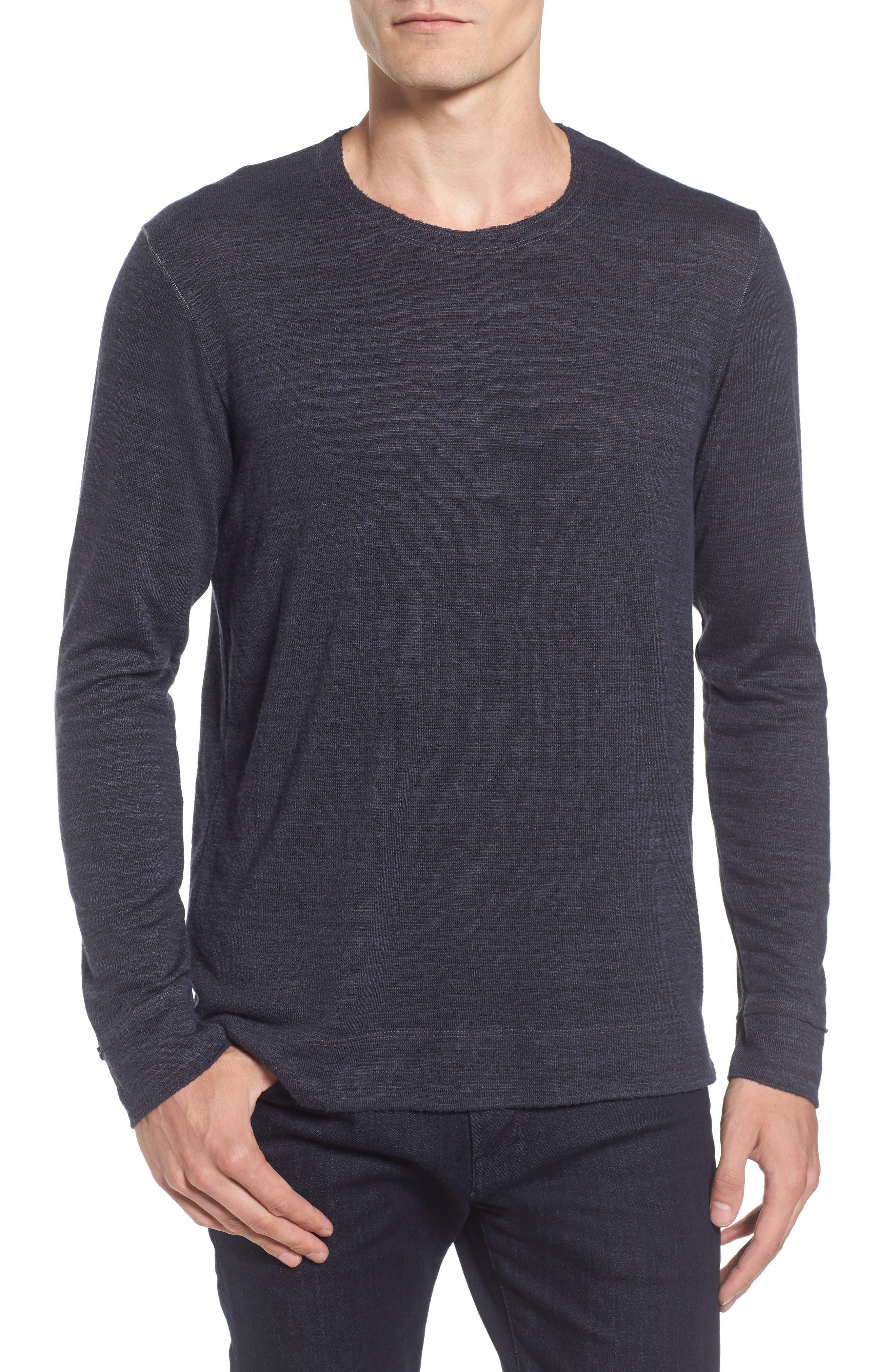 Velvet by Graham & Spencer Modern Trim Marled Long Sleeve T-Shirt