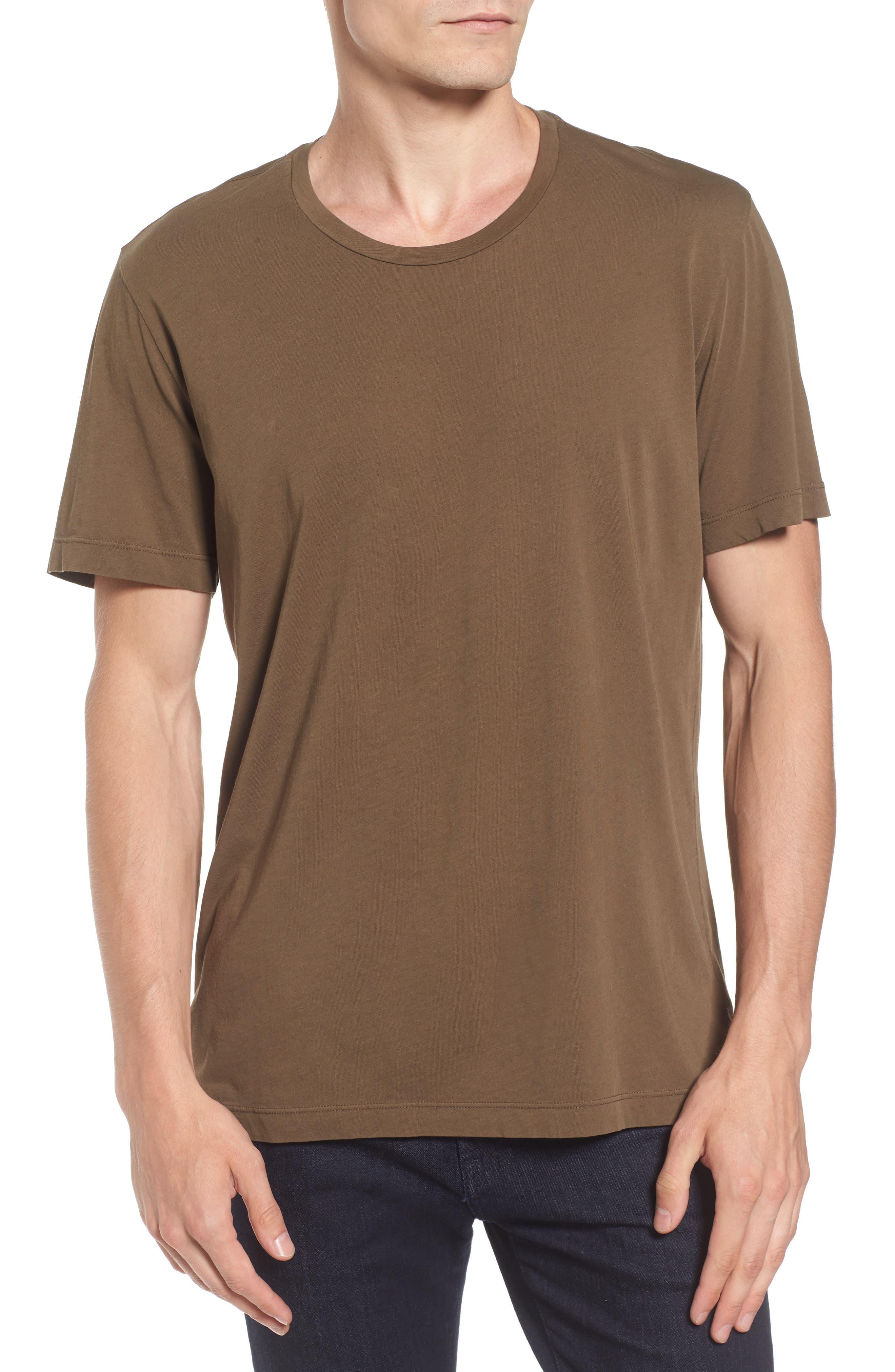 'Howard' Crewneck T-Shirt,                             Main thumbnail 1, color,                             Conifer
