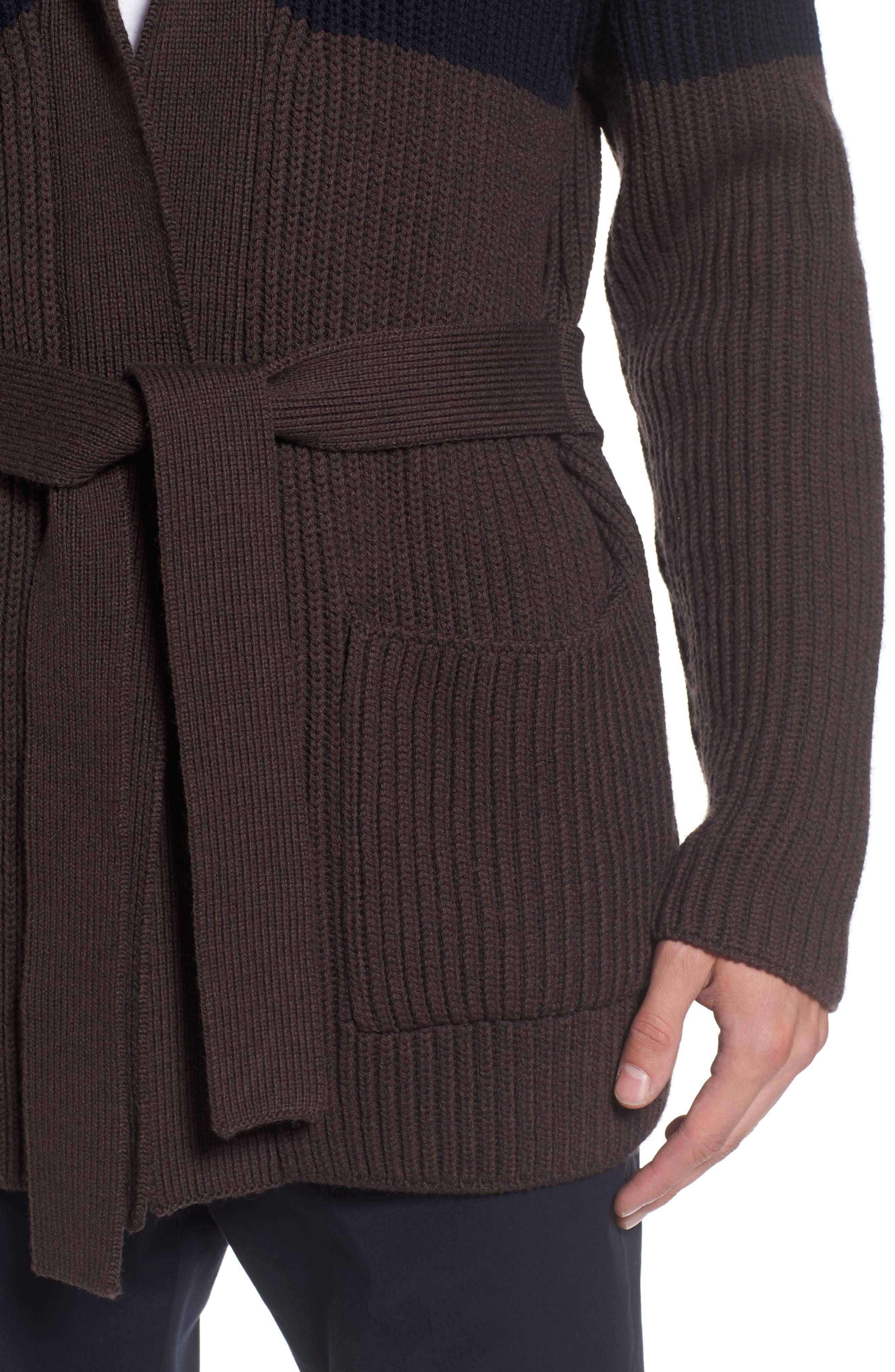 Alternate Image 4  - Eleventy Colorblock Wool Wrap Sweater