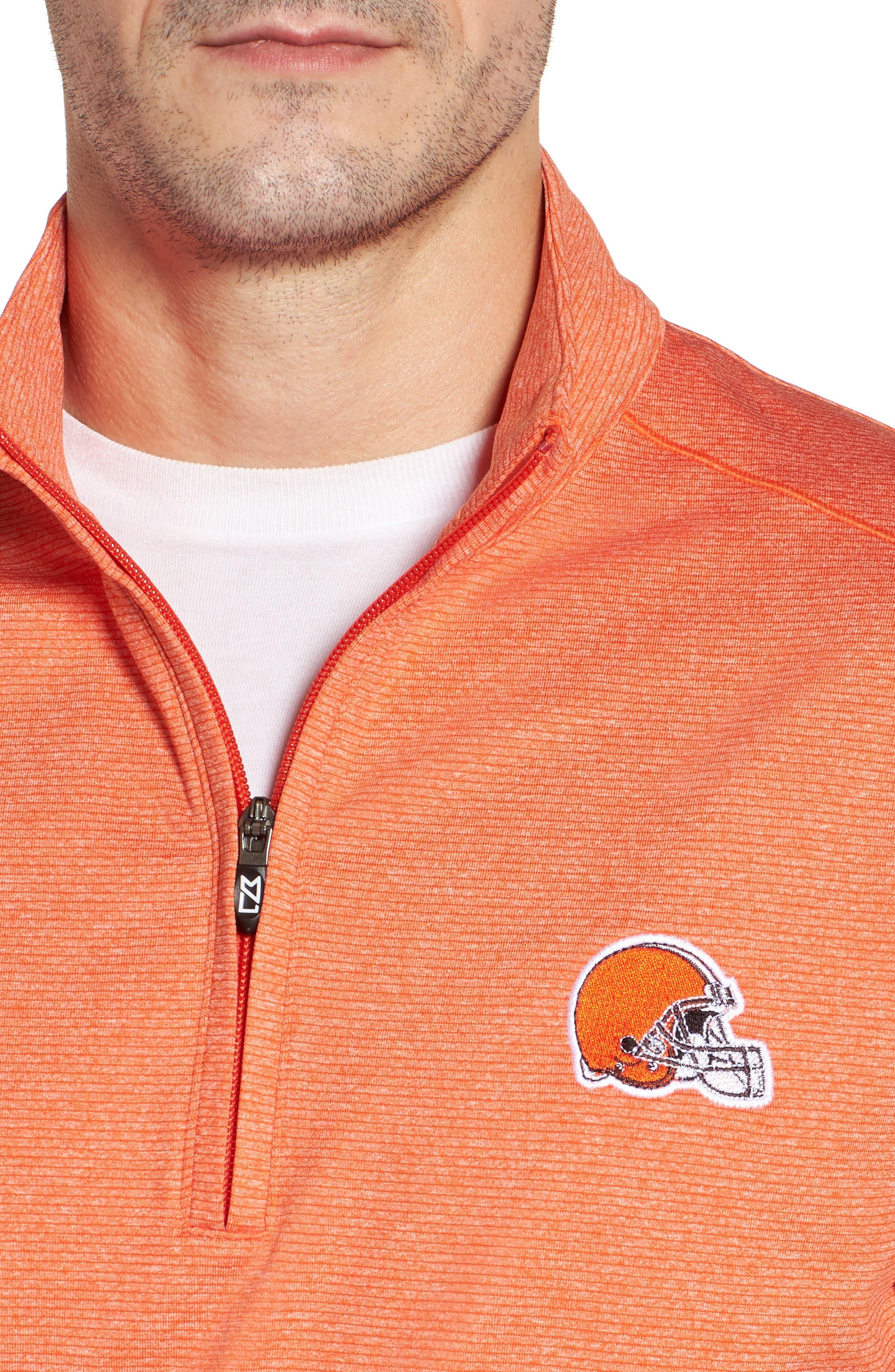 Shoreline - Cleveland Browns Half Zip Pullover,                             Alternate thumbnail 3, color,                             College Orange Heather