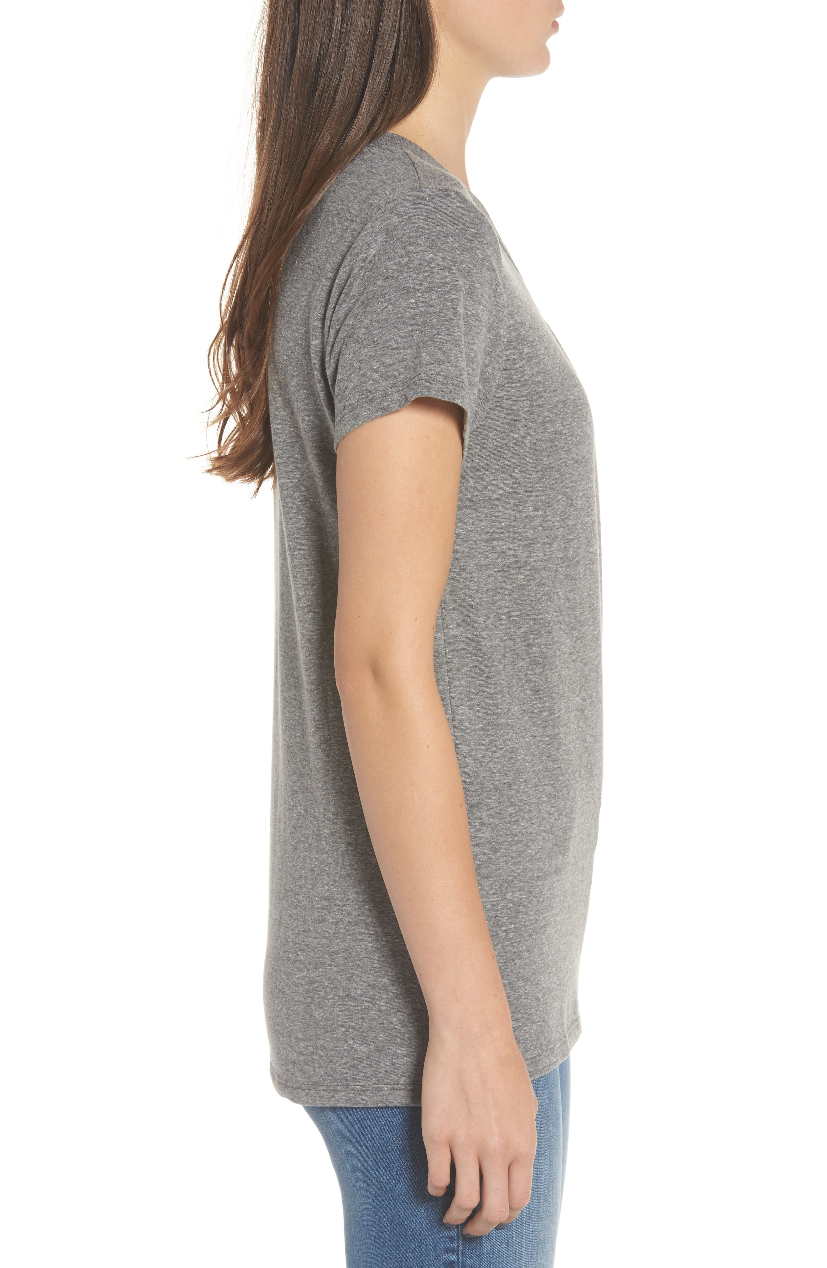 High/Low Hem Tee,                             Alternate thumbnail 3, color,                             Heather Grey