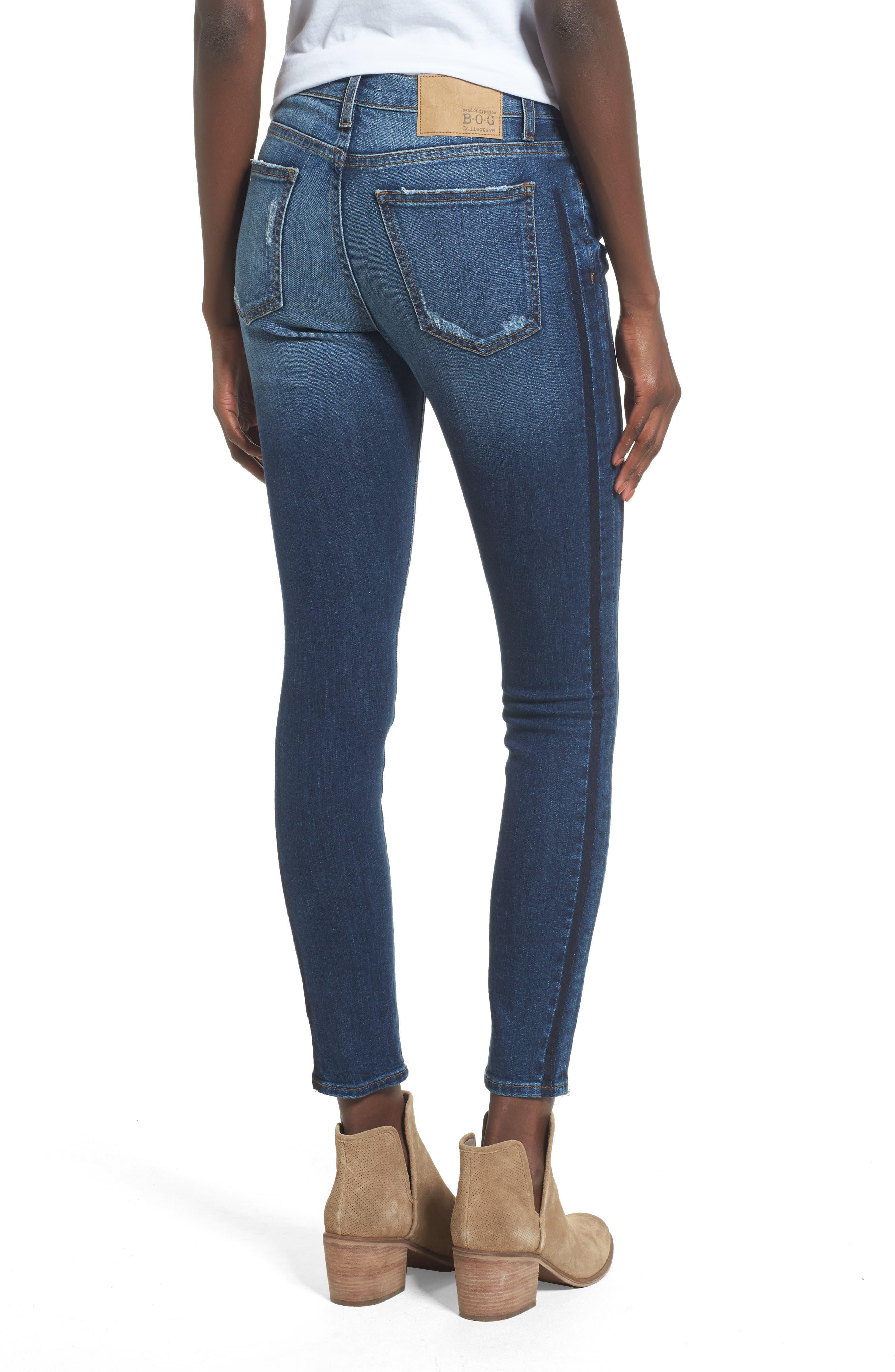 Lola Ripped Skinny Jeans,                             Alternate thumbnail 2, color,                             Carlsbad Fest East