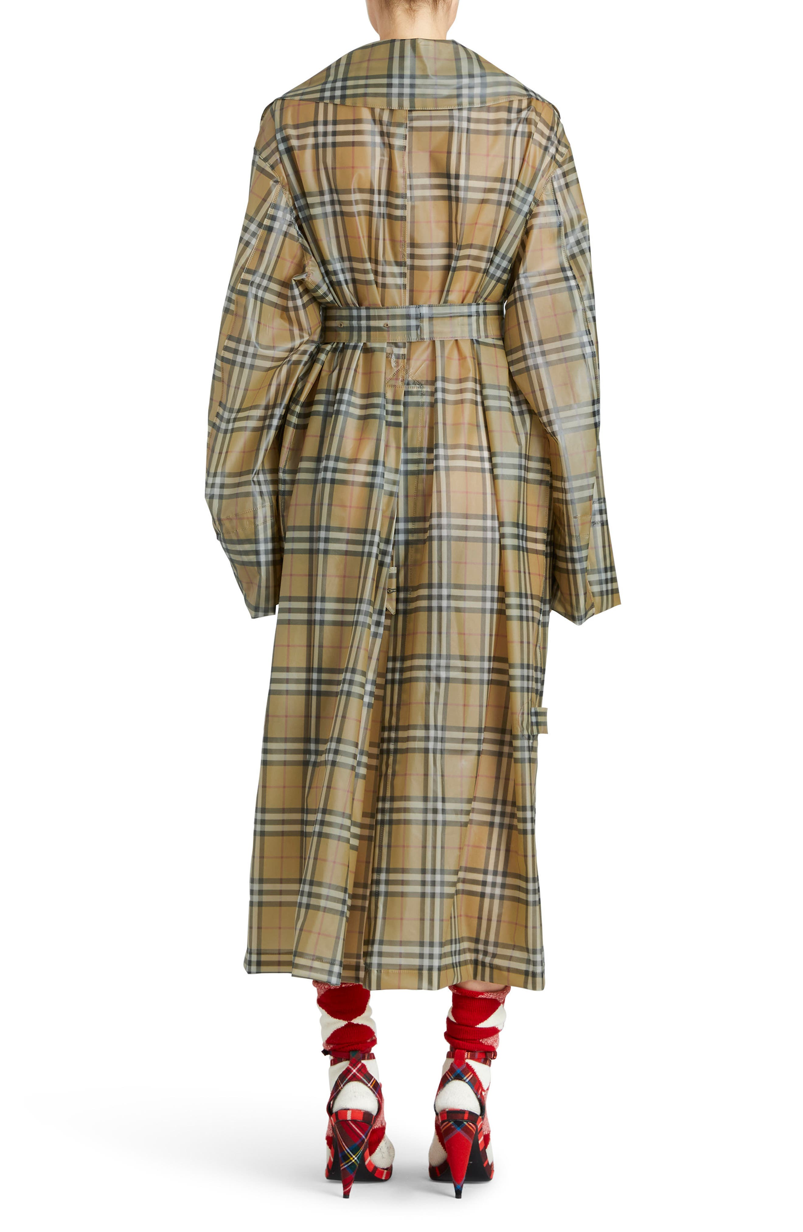 Alternate Image 2  - Burberry Vintage Check Plastic Trench Coat