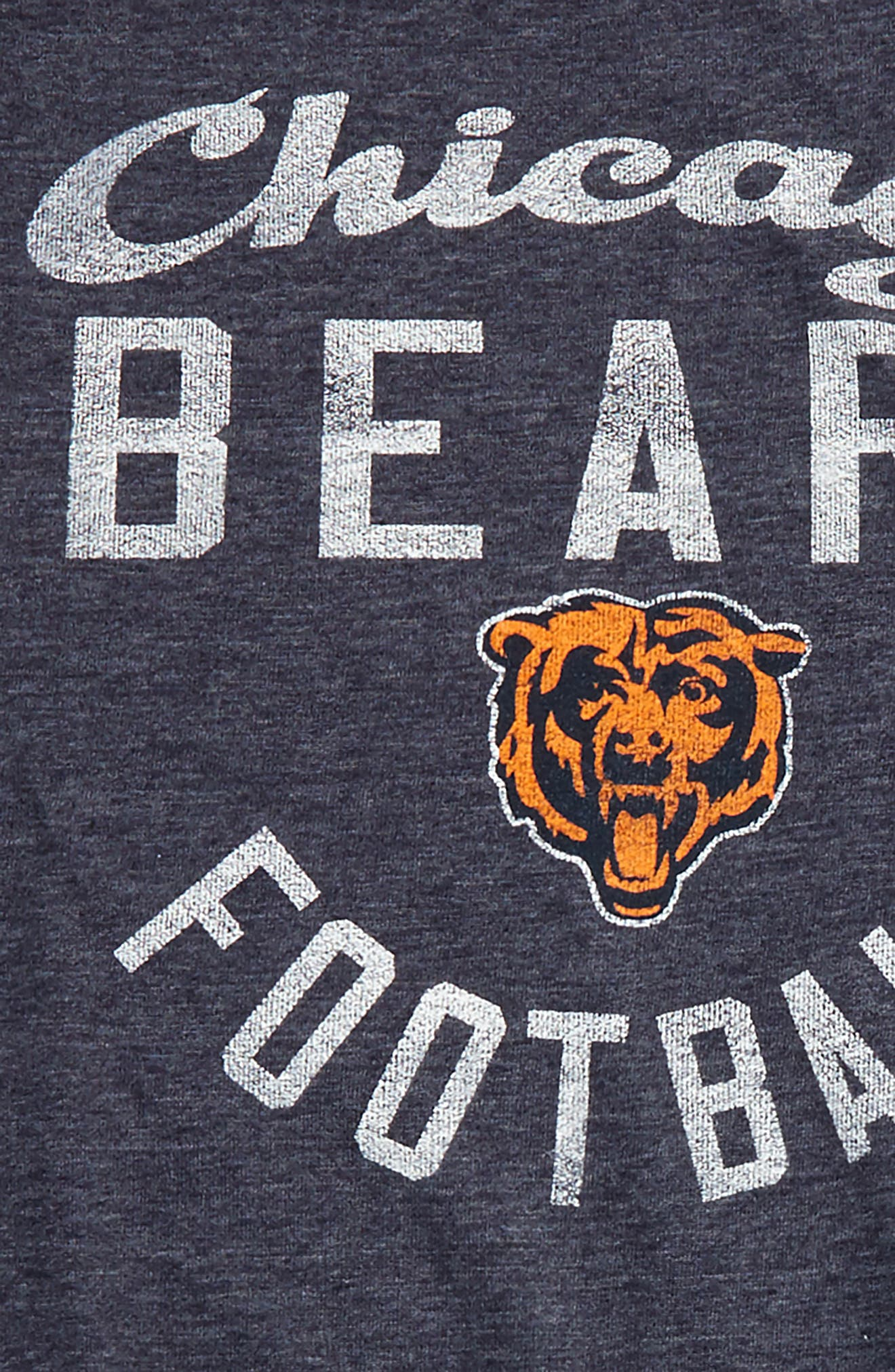 NFL Chicago Bears Distressed Logo T-Shirt,                             Alternate thumbnail 2, color,                             Obsidian