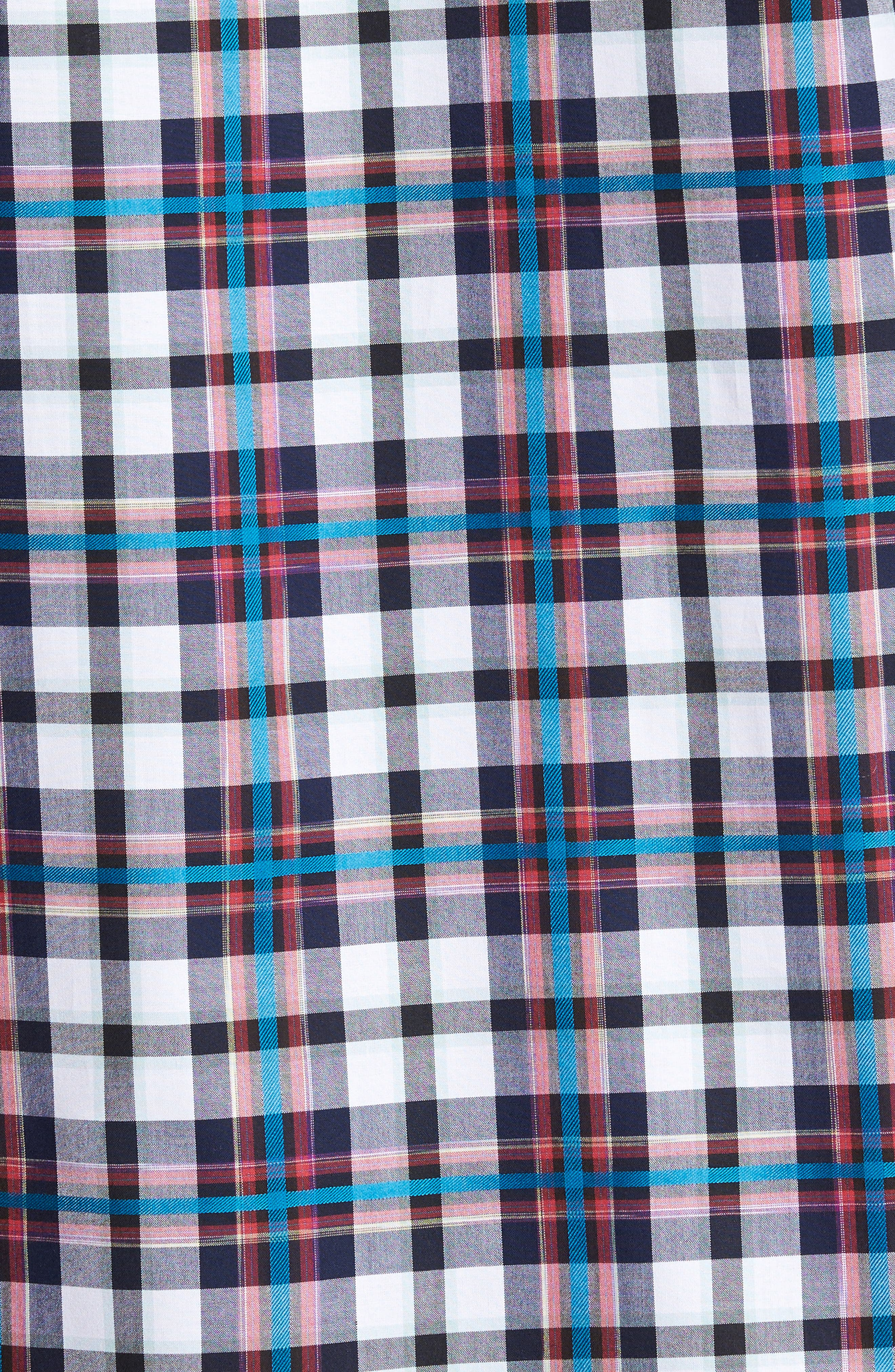 Alternate Image 5  - Bugatchi Shaped Fit Plaid Sport Shirt