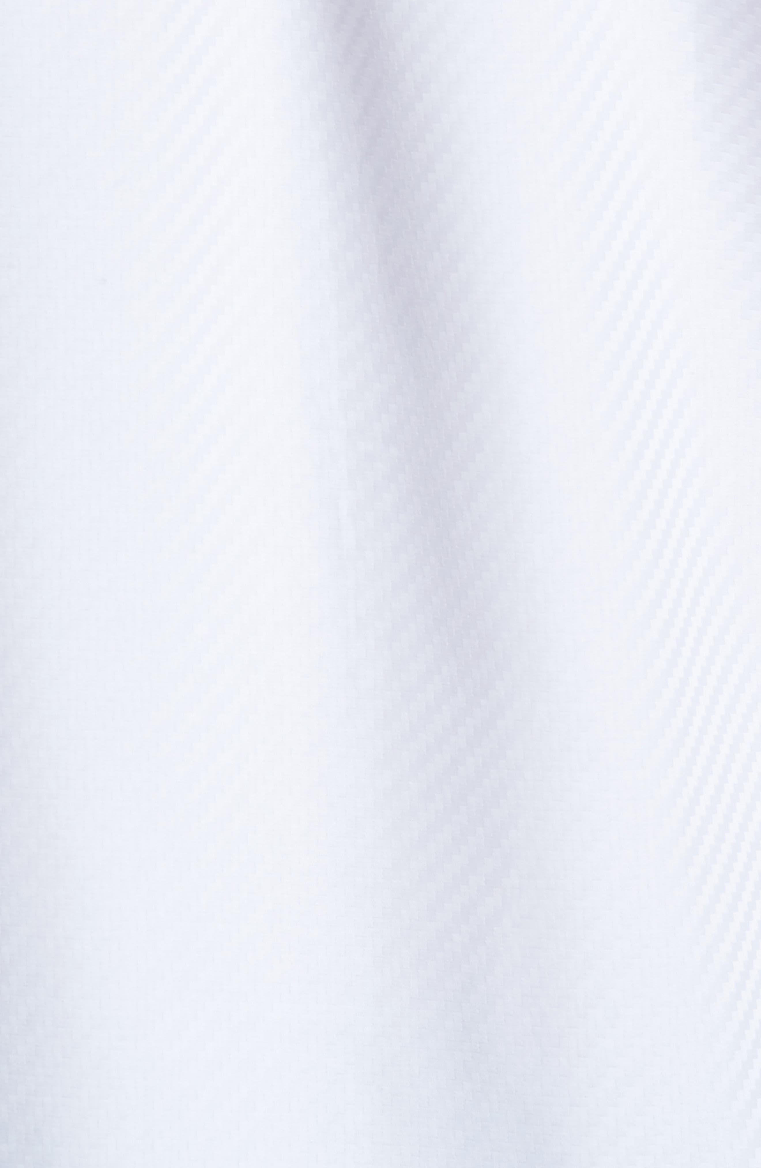 Alternate Image 5  - Bugatchi Classic Fit Diagonal Jacquard Sport Shirt