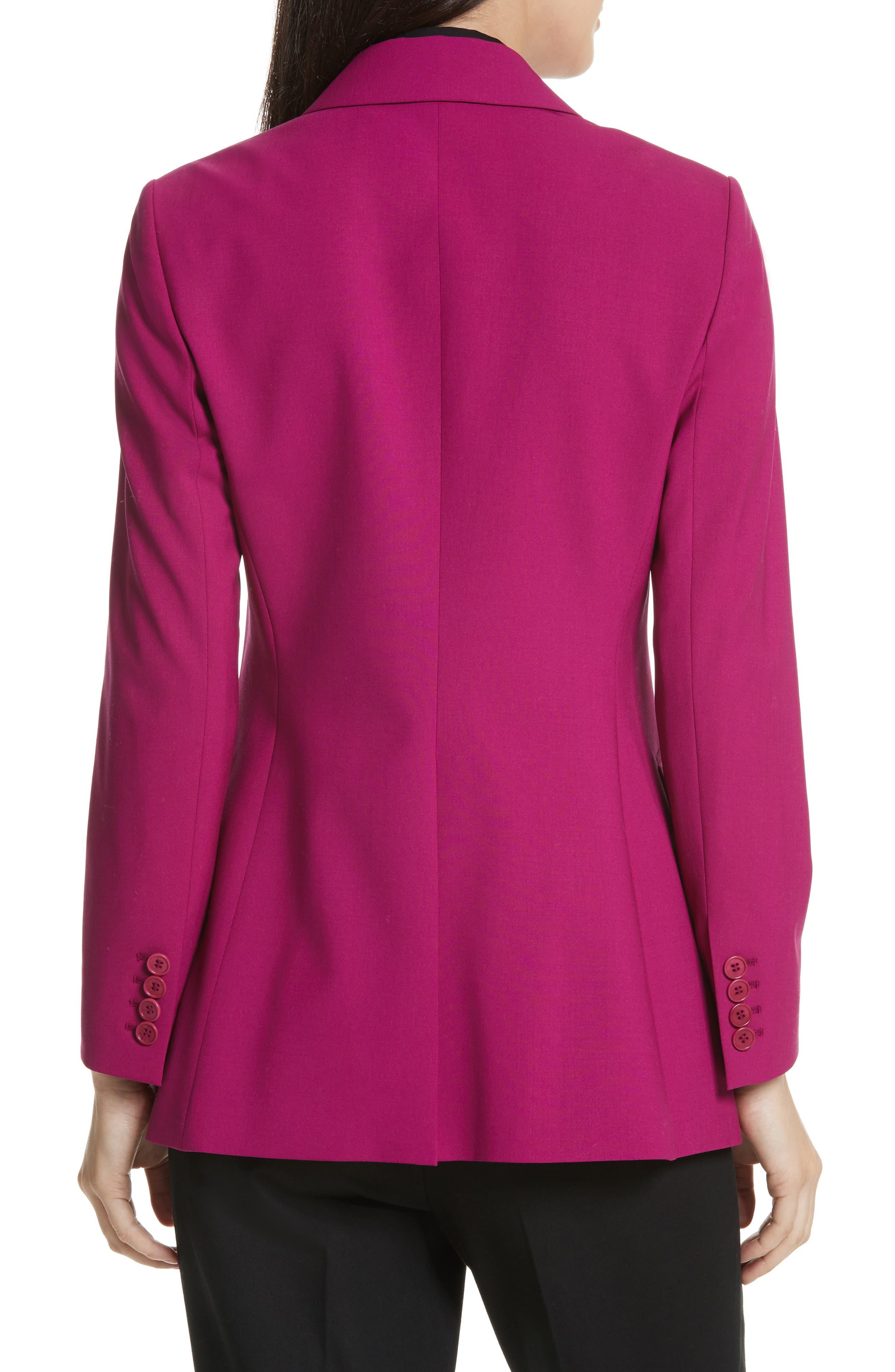 Etienette B Good Wool Suit Jacket,                             Alternate thumbnail 3, color,                             Electric Pink