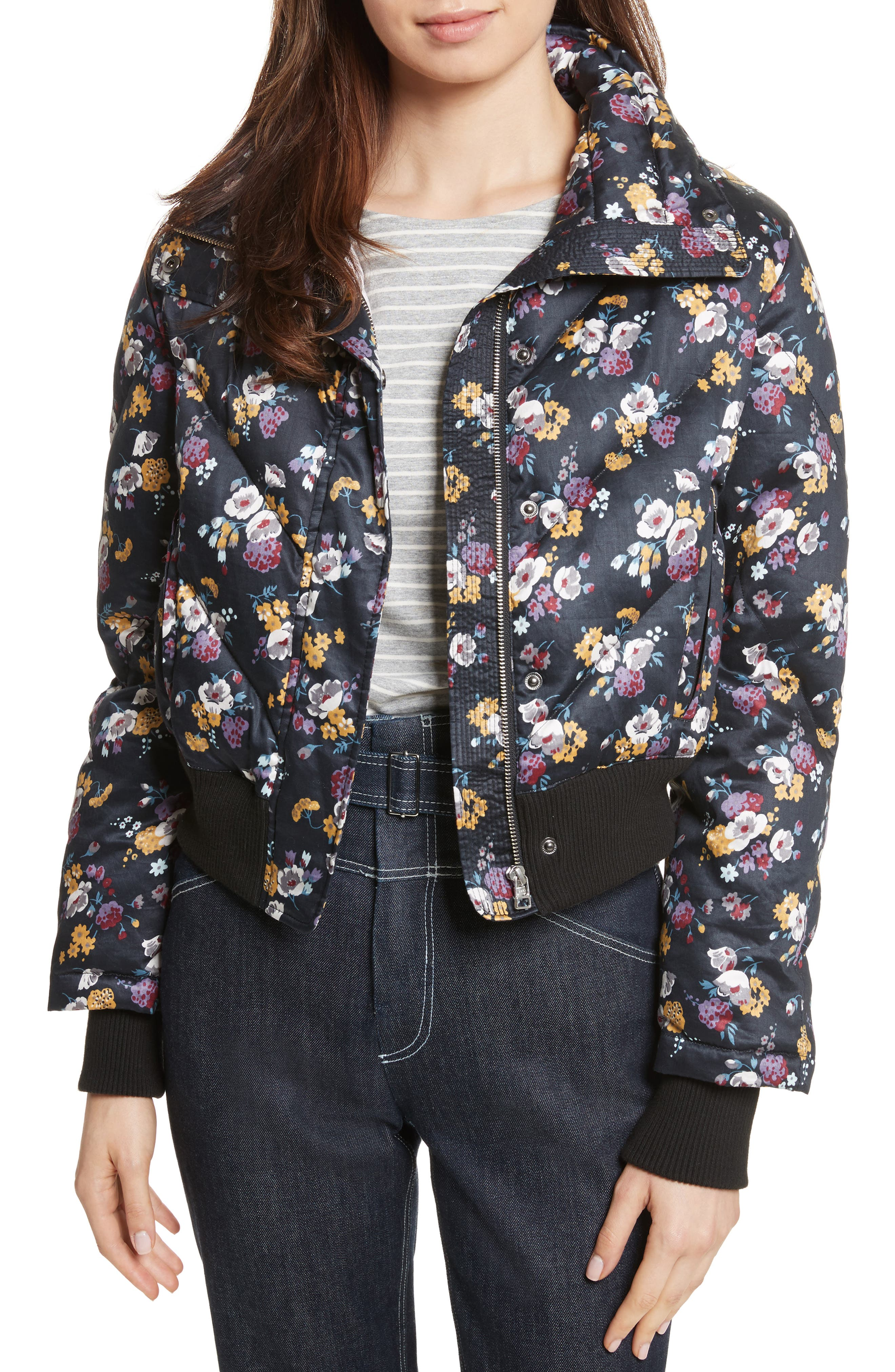 Winter Posey Jacket,                         Main,                         color, Black Combo