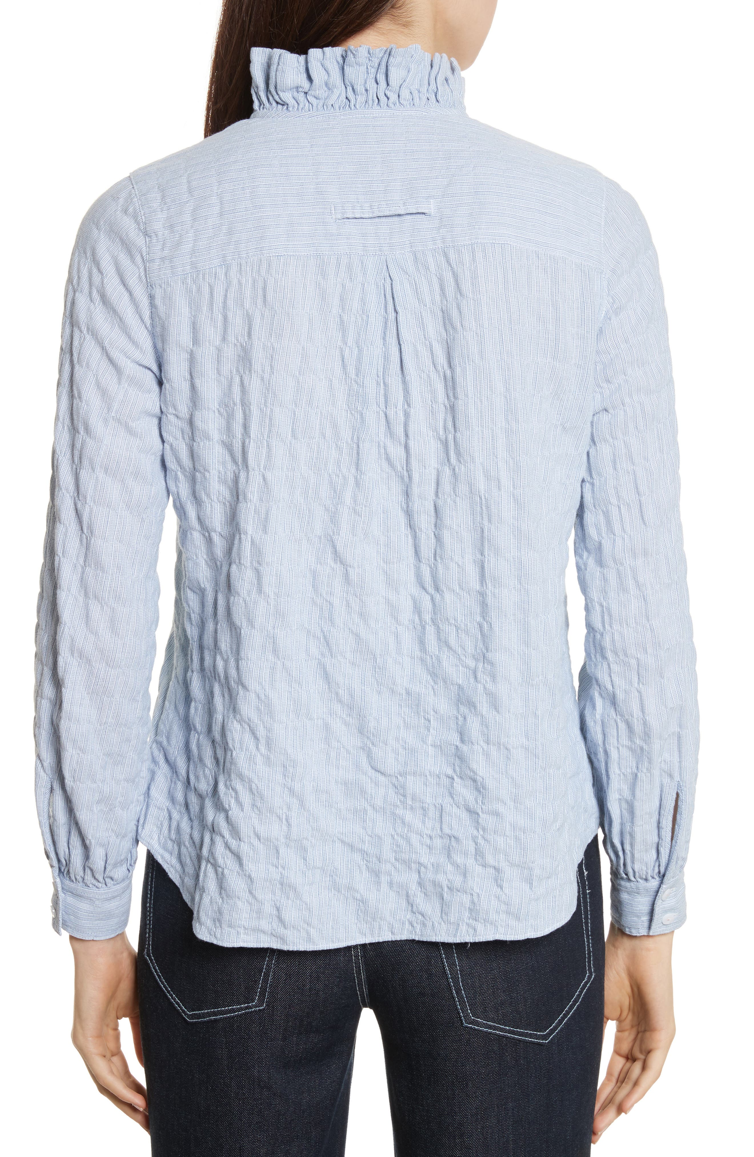 Alternate Image 2  - Rebecca Taylor Soft Stripe Quilted Shirt