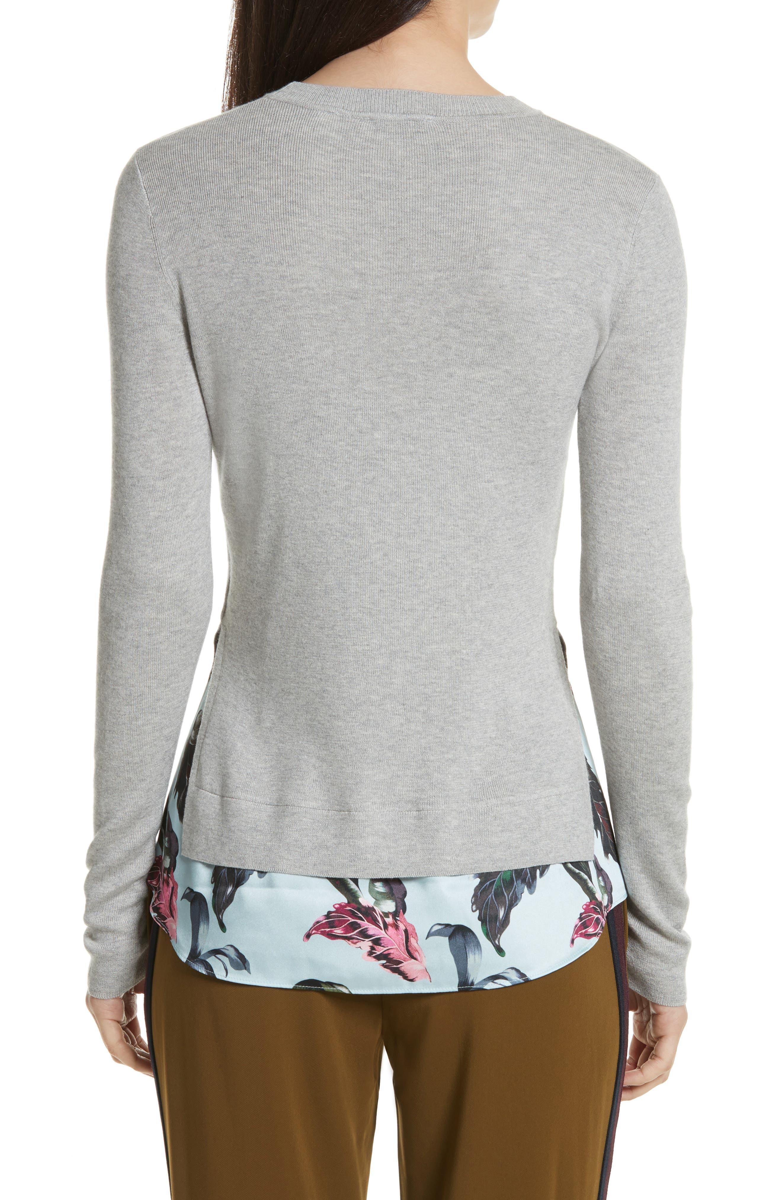 Karley Minerals Mockable Sweater,                             Alternate thumbnail 2, color,                             Light Grey