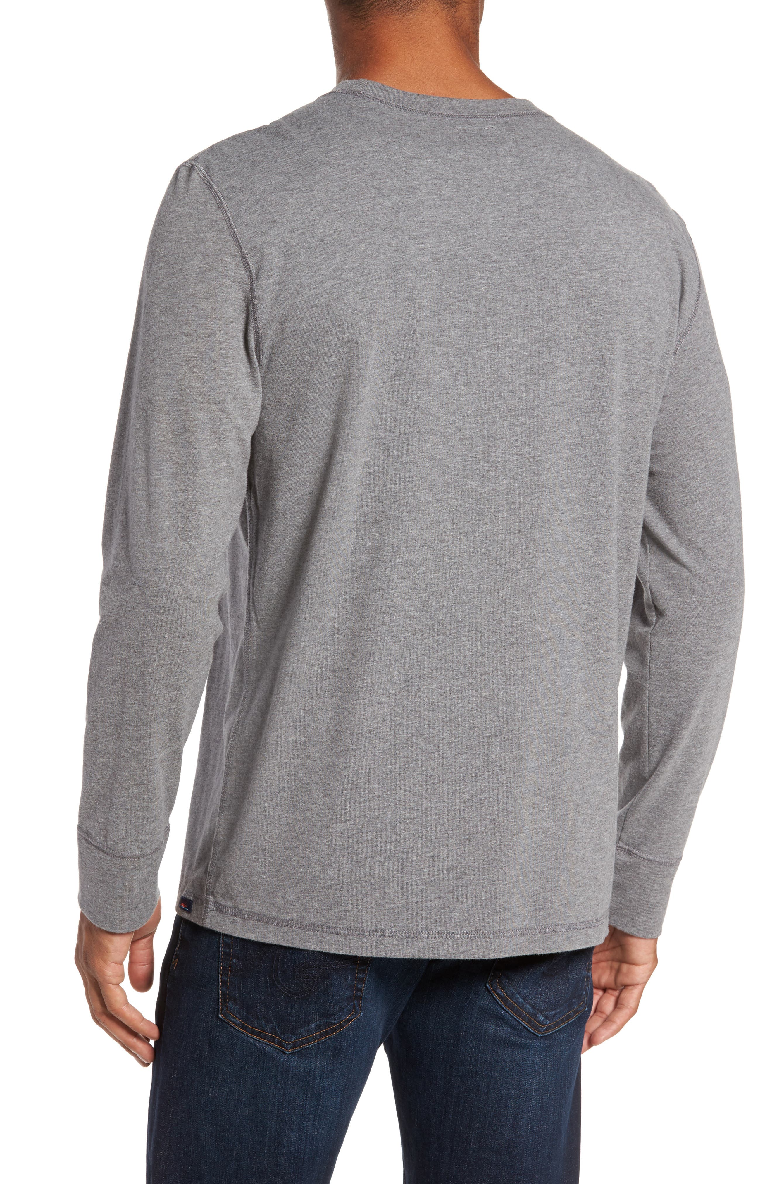 Notch Long Sleeve T-Shirt,                             Alternate thumbnail 2, color,                             Grey