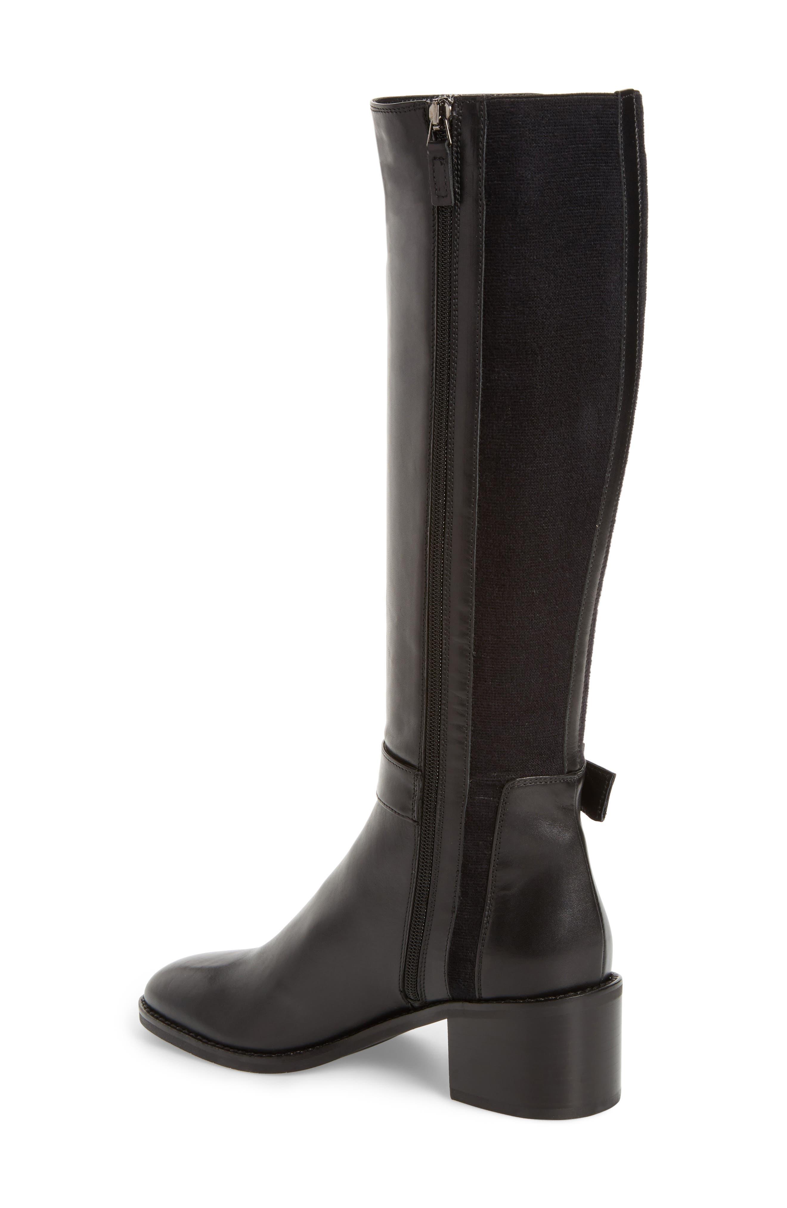 Joanna Weatherproof Tall Boot,                             Alternate thumbnail 2, color,                             Black
