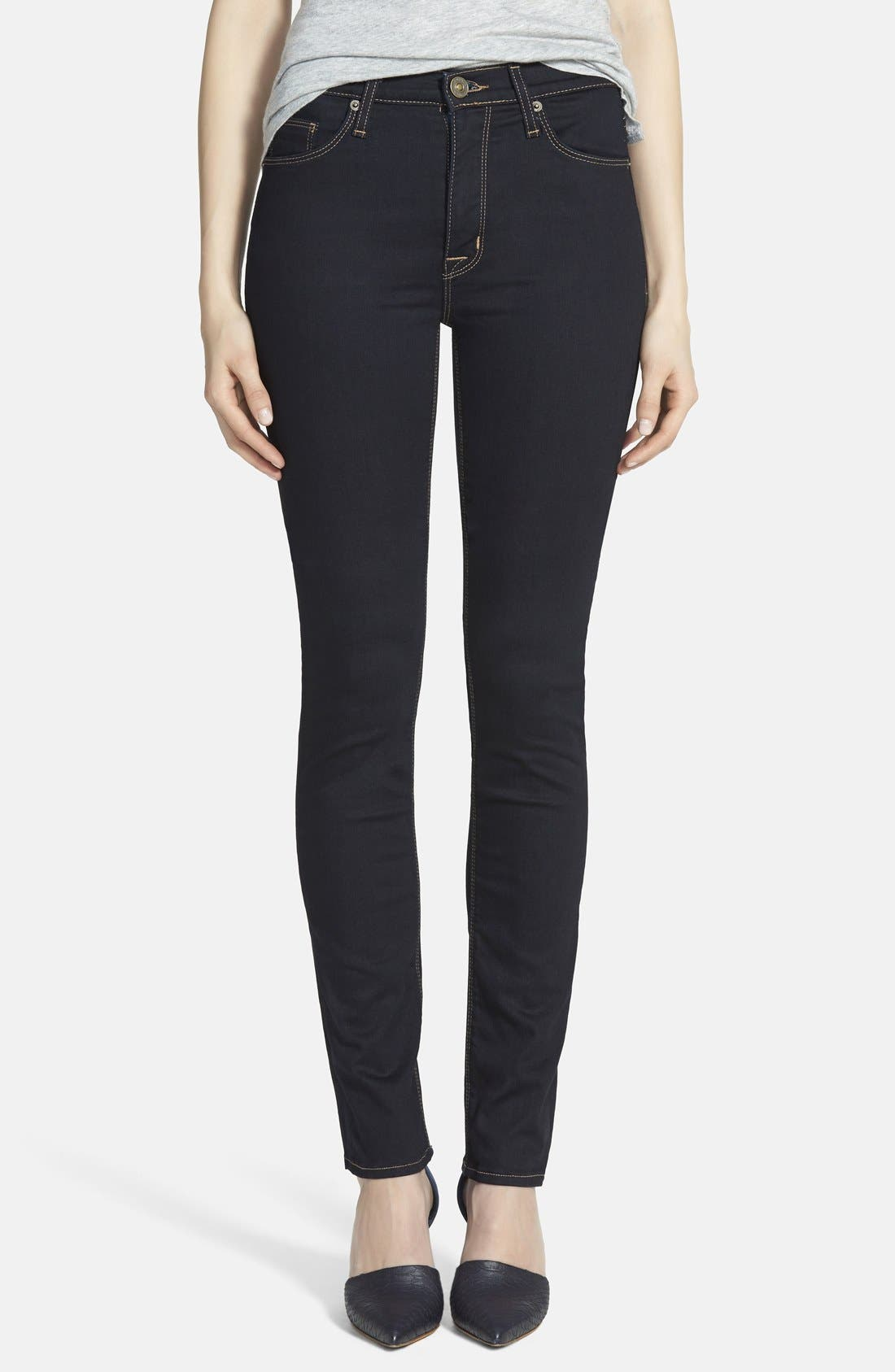Alternate Image 1 Selected - Hudson Jeans 'Tilda' Mid Rise Straight Leg Jeans (Storm)