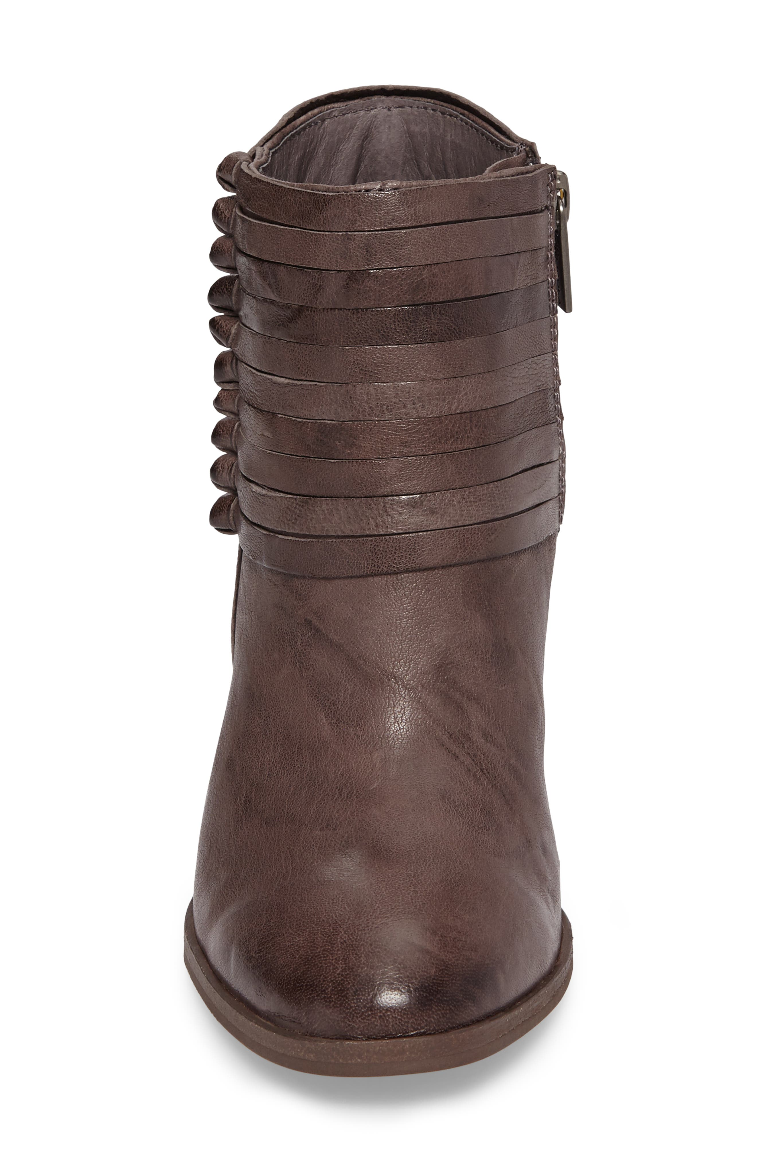 Lander Strappy Bootie,                             Alternate thumbnail 4, color,                             Cemento Grey Leather