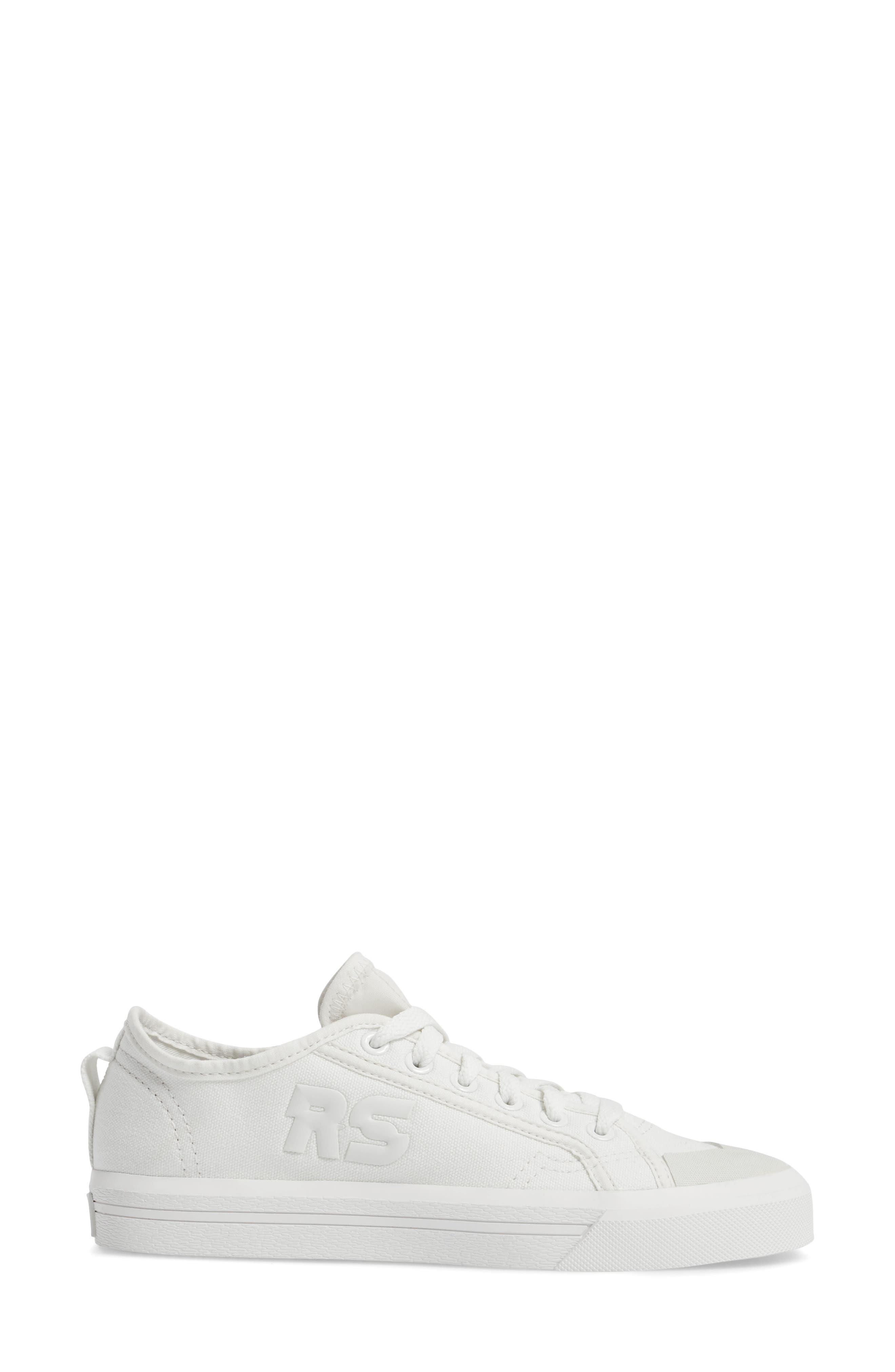 adidas by Raf Simons Spirit Low Top Sneaker,                             Alternate thumbnail 3, color,                             Optic White