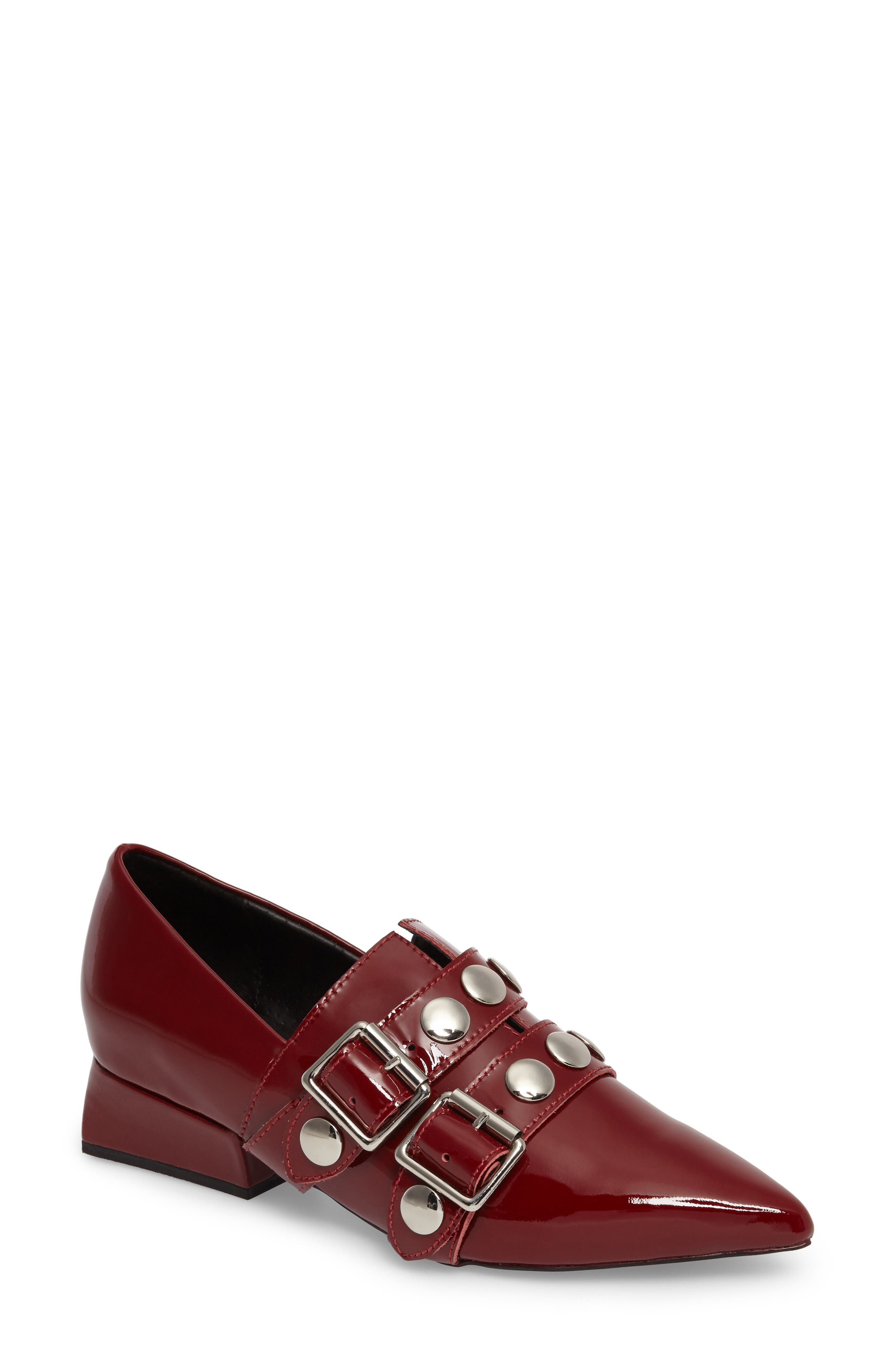 Jeffrey Campbell Manford Buckle Strap Loafer (Women)