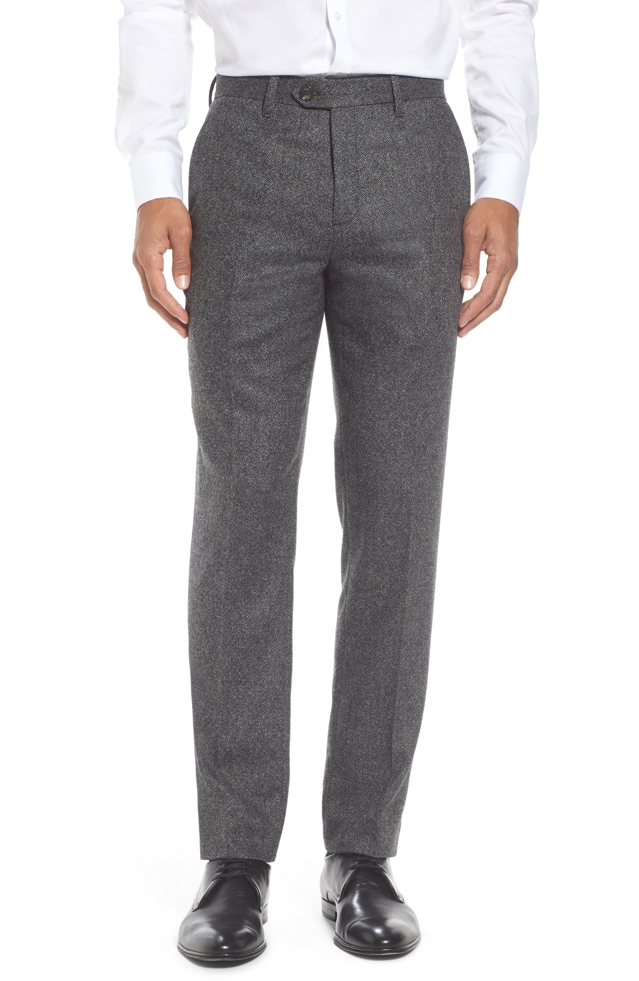 Modern Slim Fit Trousers,                         Main,                         color, Charcoal