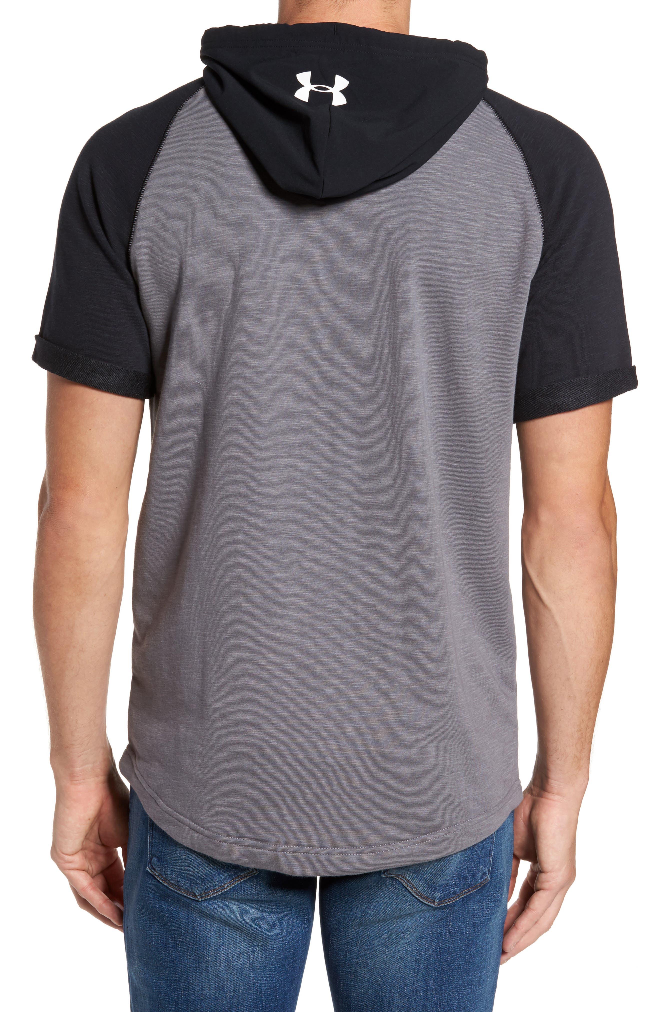 Alternate Image 2  - Under Armour Sportstyle Short Sleeve Hoodie