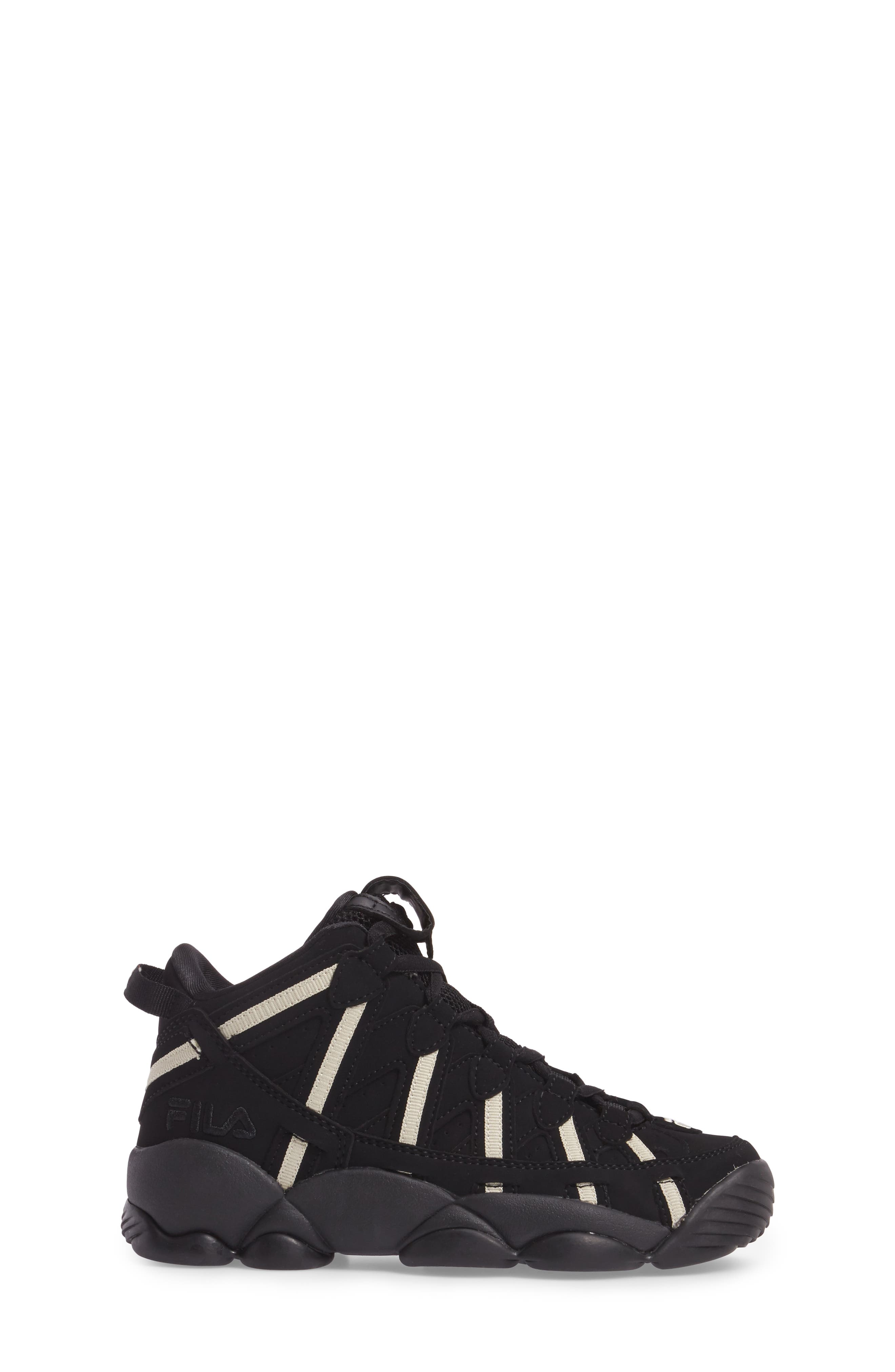 Spaghetti Deluxe Mid Top Sneaker,                             Alternate thumbnail 3, color,                             Black/ Cream